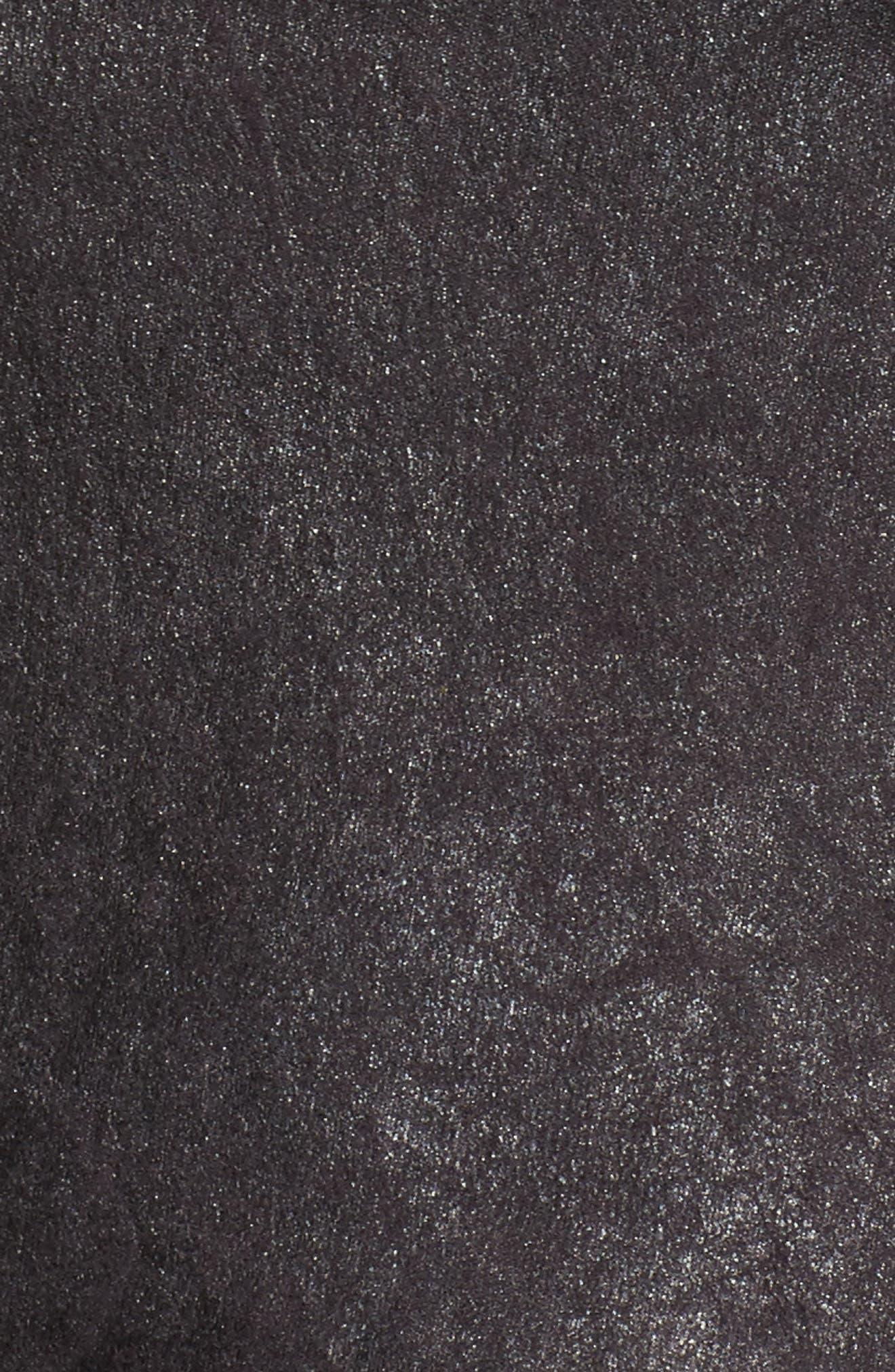 Asymmetrical Faux Leather Jacket,                             Alternate thumbnail 6, color,                             001