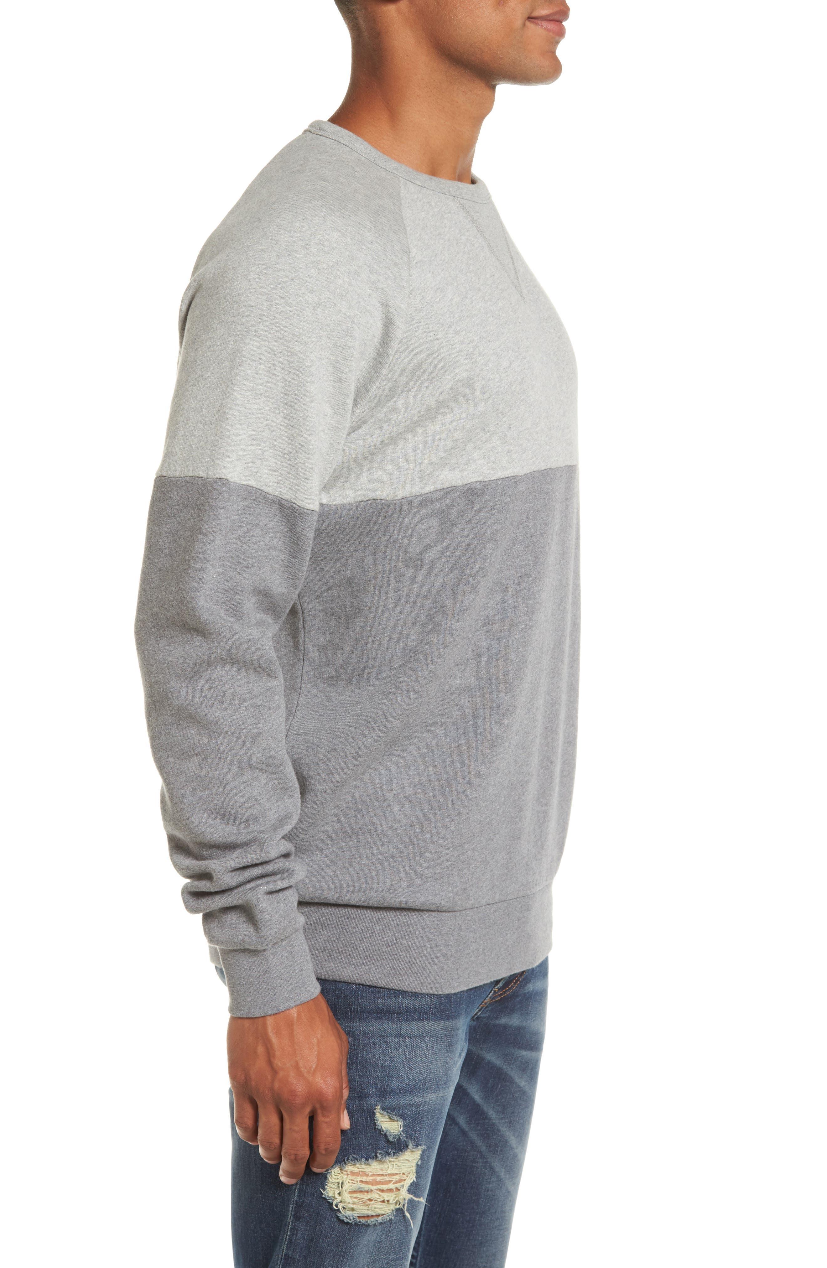 Multi Mélange Colorblock Sweatshirt,                             Alternate thumbnail 3, color,                             033
