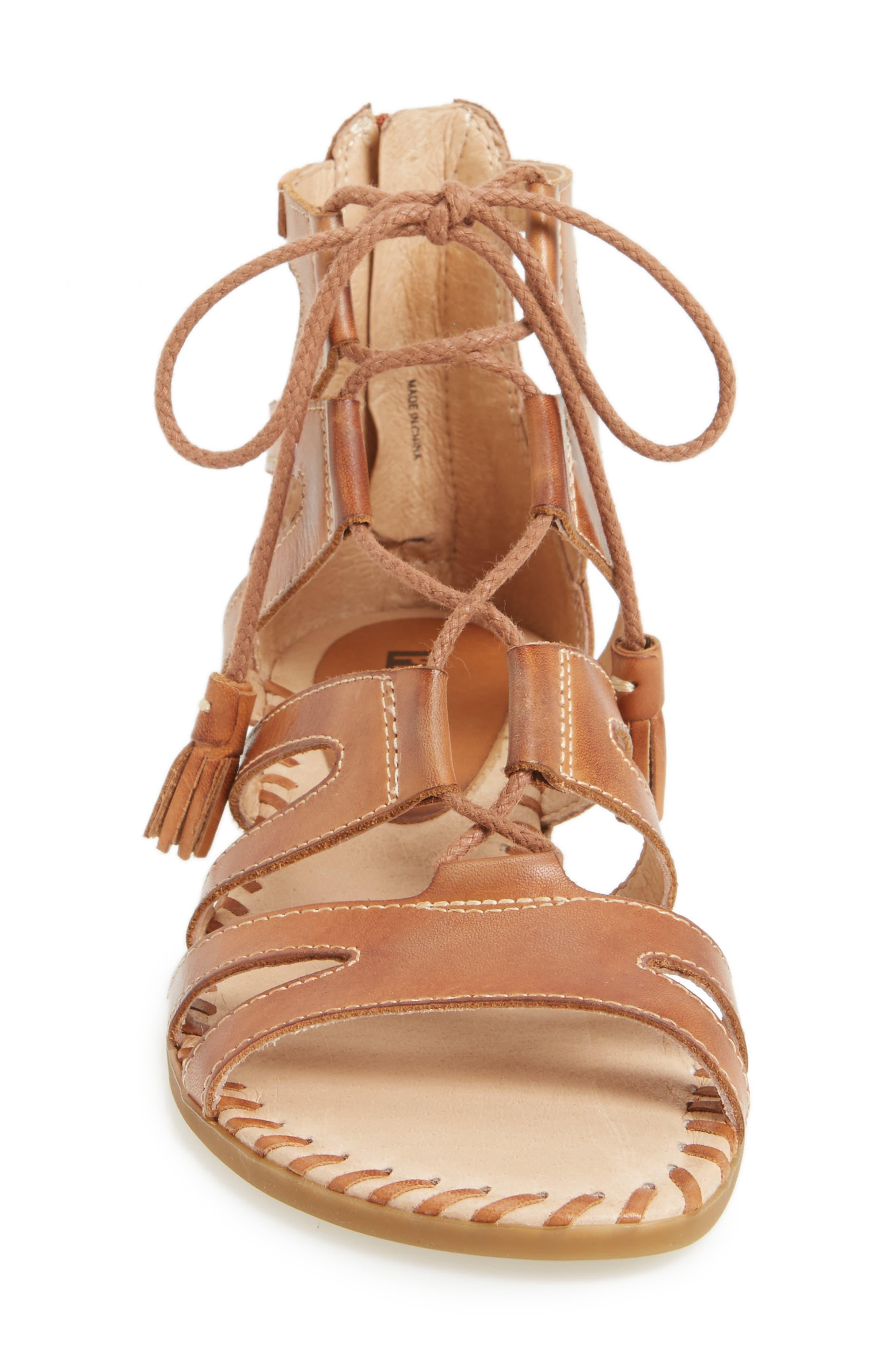 'Alcudia' Lace-Up Sandal,                             Alternate thumbnail 7, color,