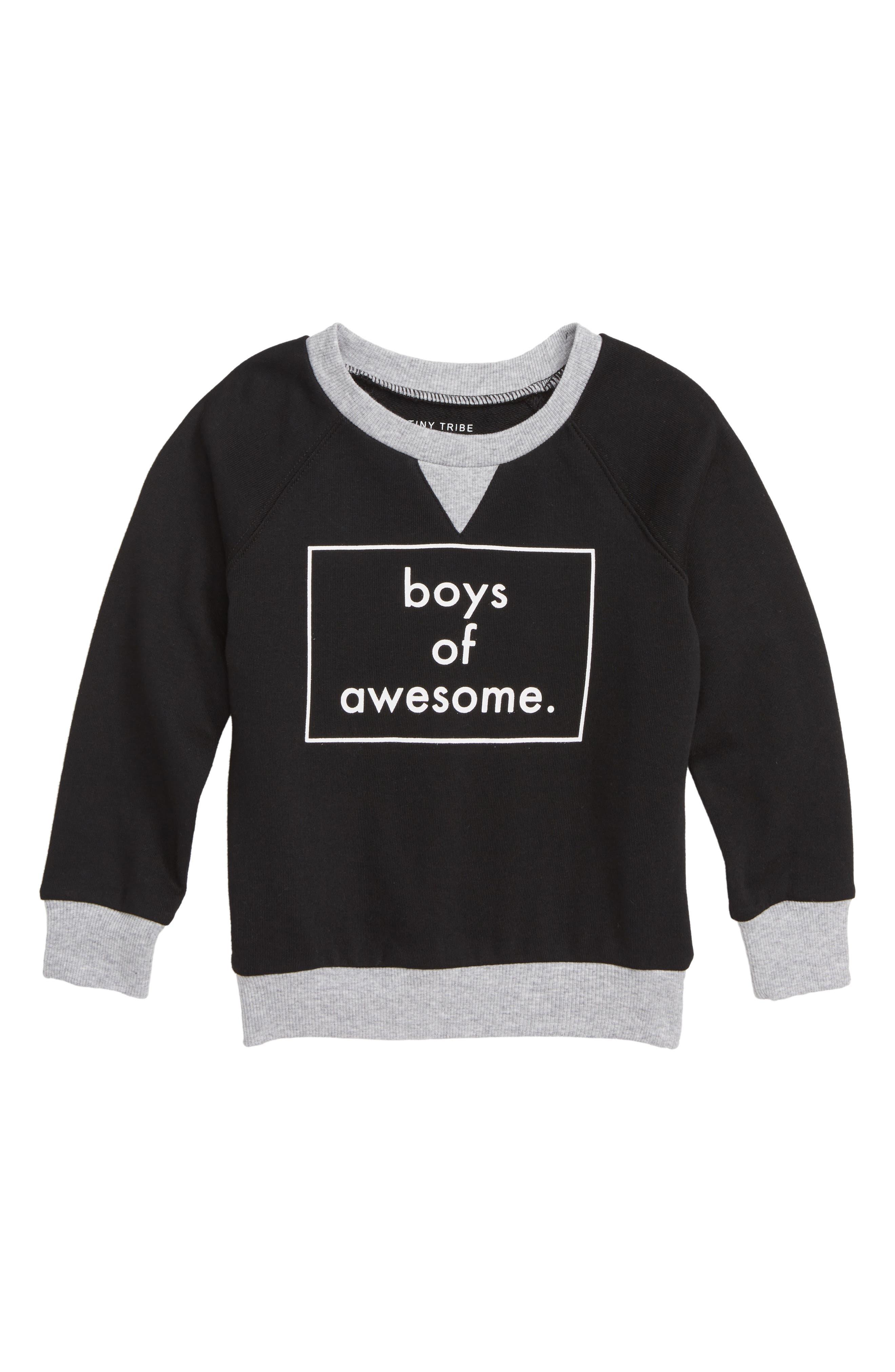 Boys of Awesome Sweatshirt,                             Main thumbnail 1, color,                             001