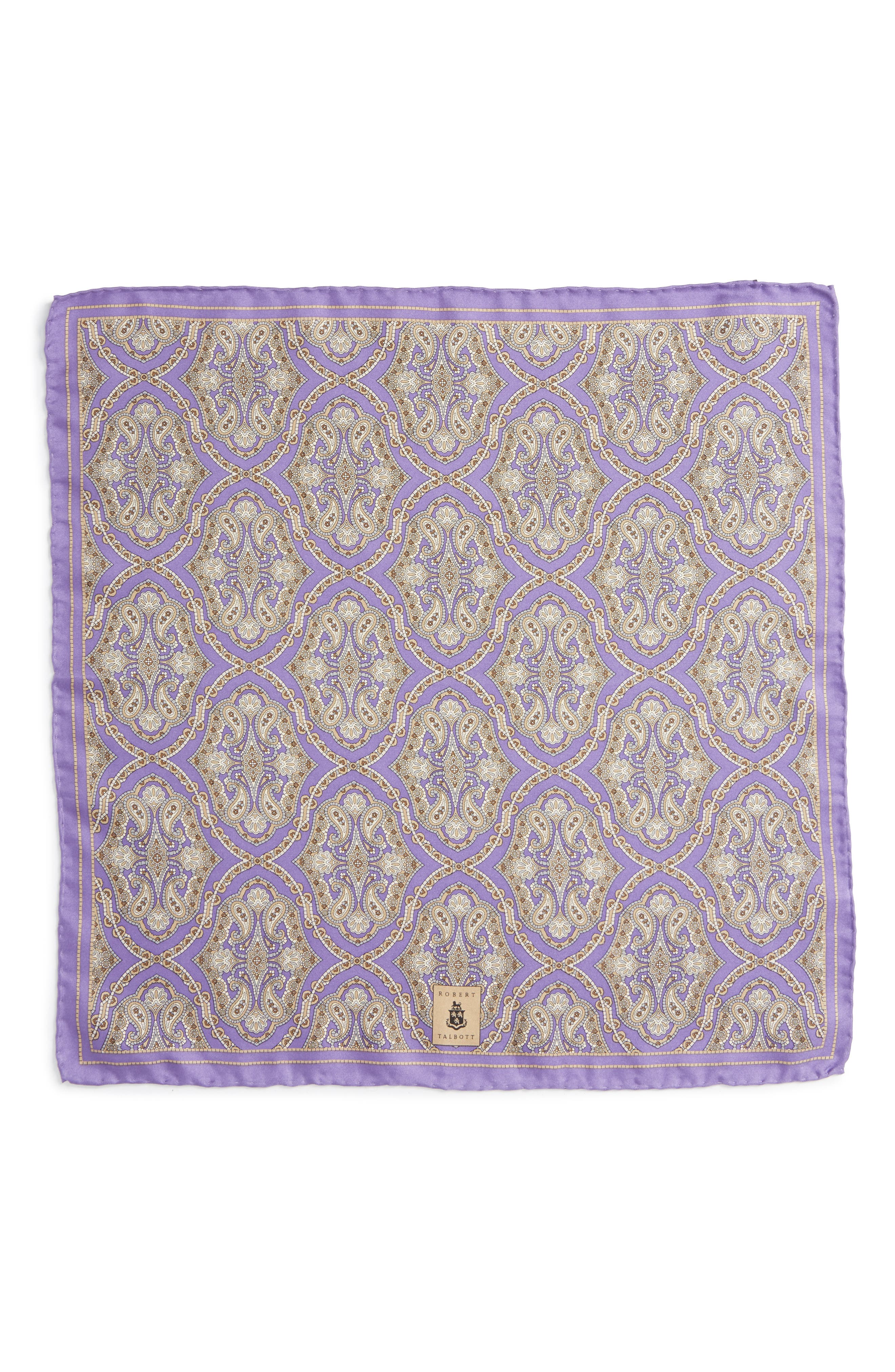 Medallion Silk Pocket Square,                             Alternate thumbnail 8, color,