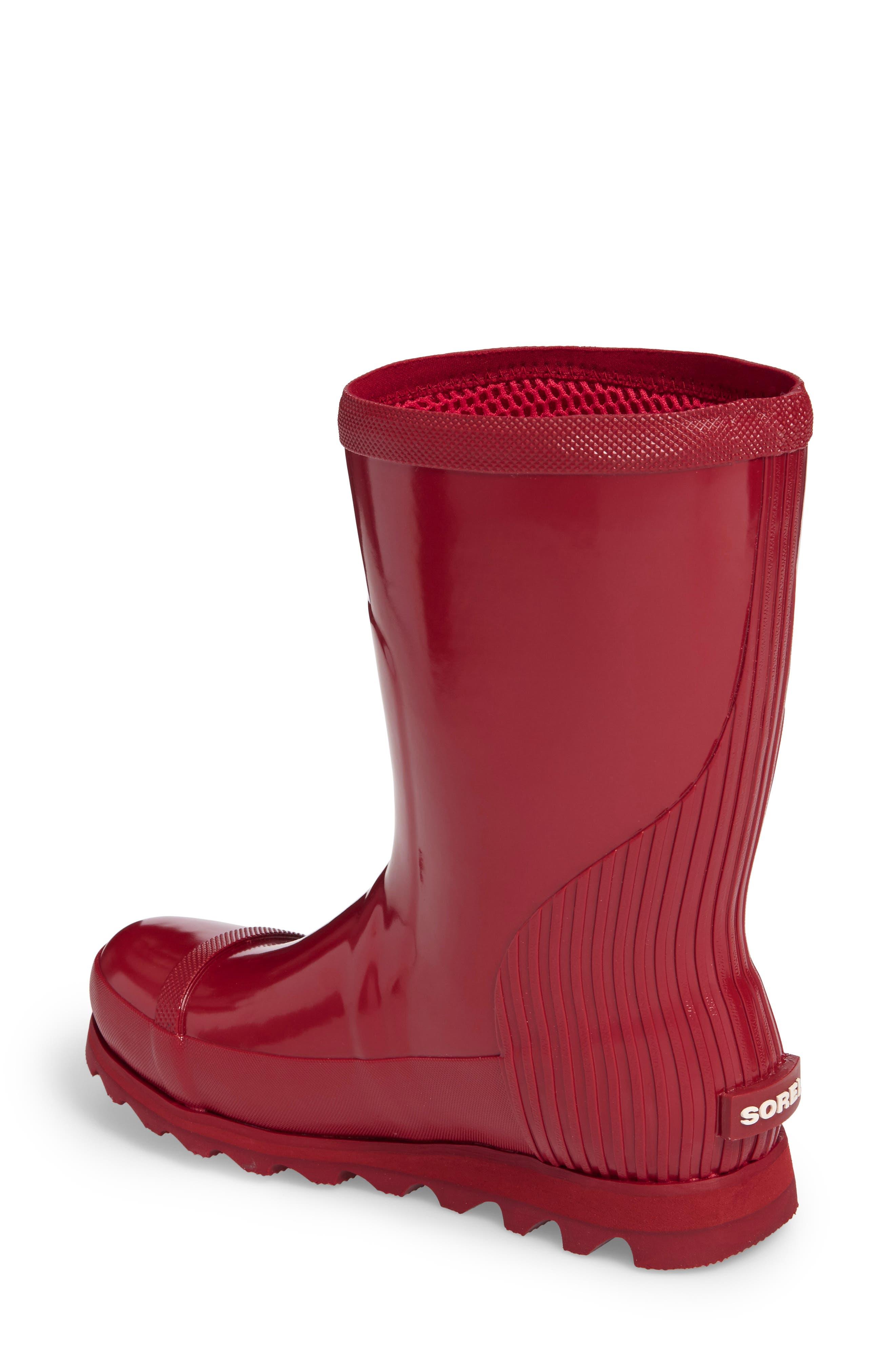 Joan Glossy Short Rain Boot,                             Alternate thumbnail 6, color,