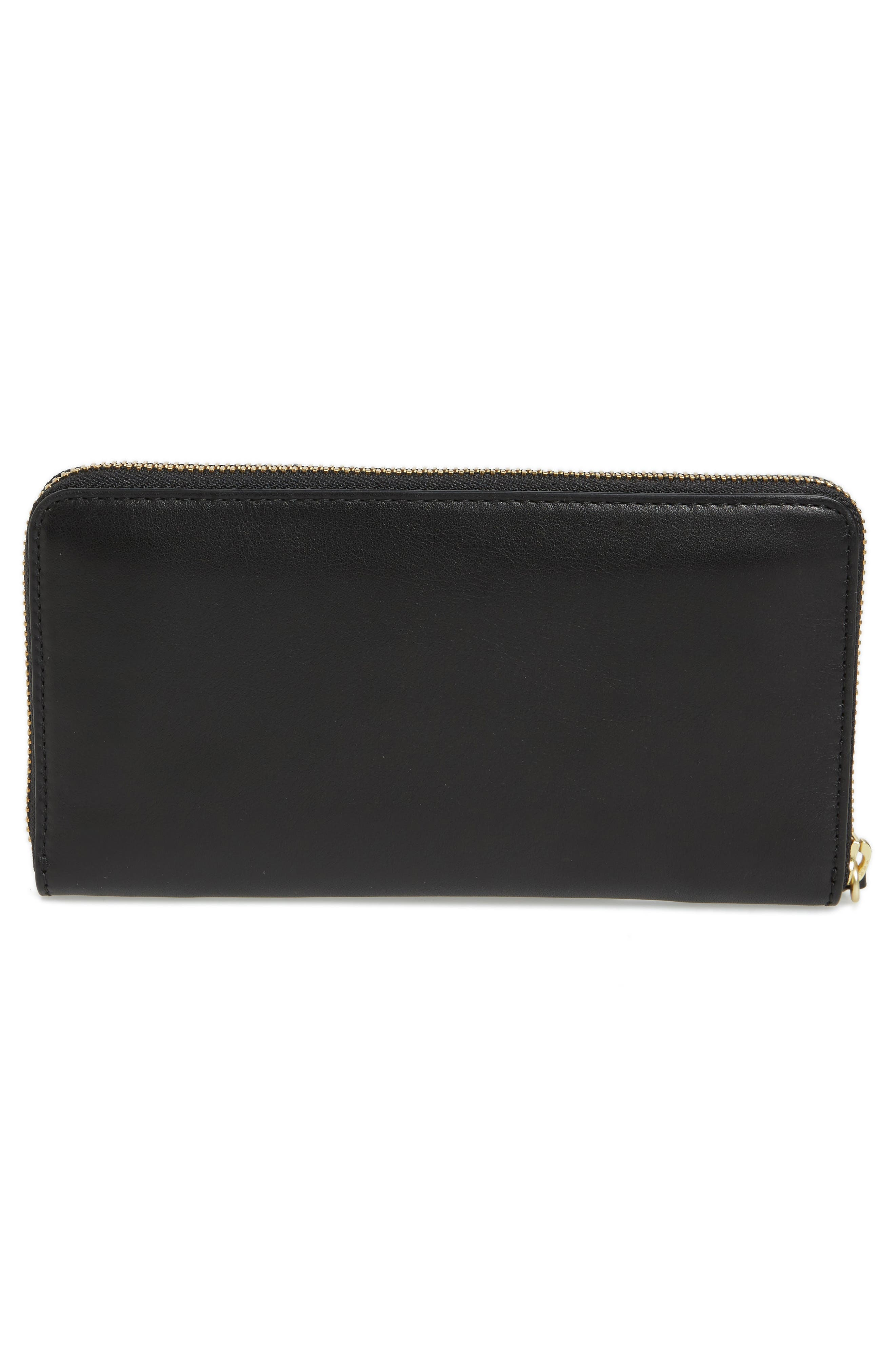Leather Continental Wallet,                             Alternate thumbnail 4, color,                             001