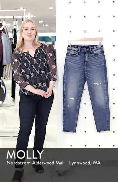 Friday Distressed Tapered Boyfriend Jeans, sales video thumbnail