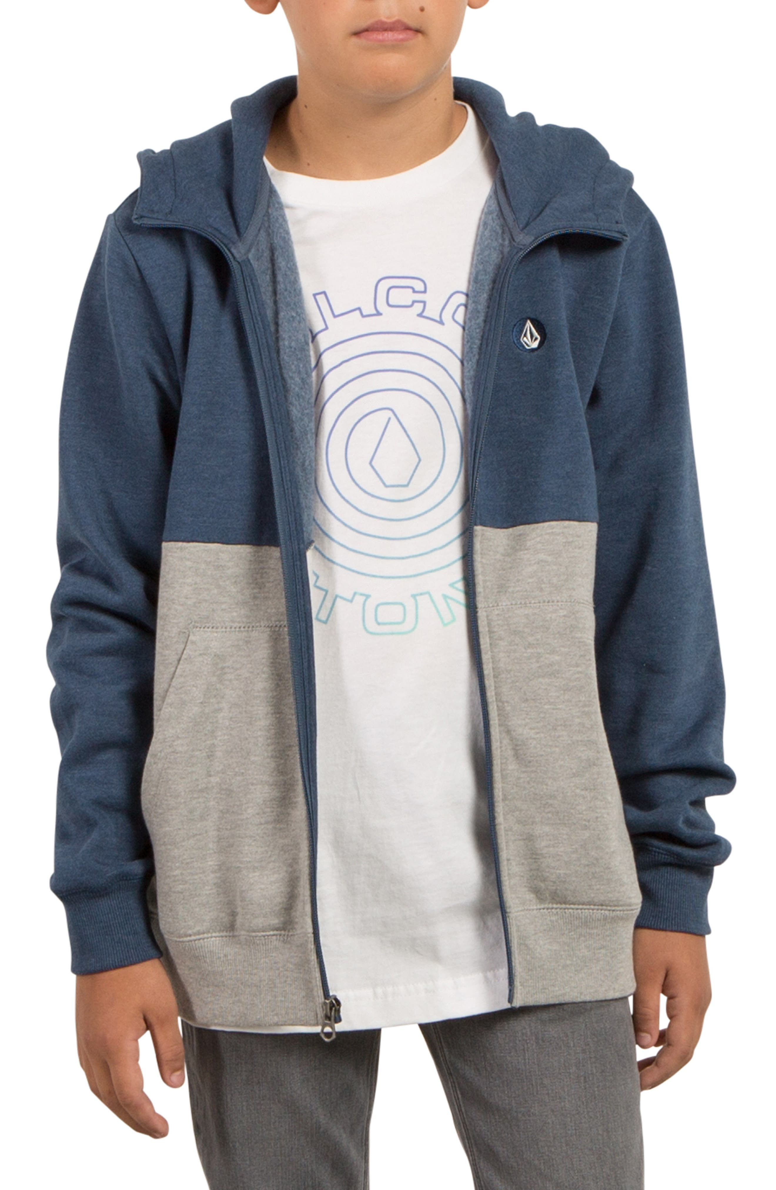 Single Stone Division Zip-Up Hoodie,                         Main,                         color, 490