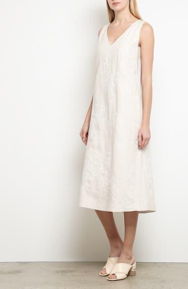Duncan Embroidered Linen Dress, video thumbnail