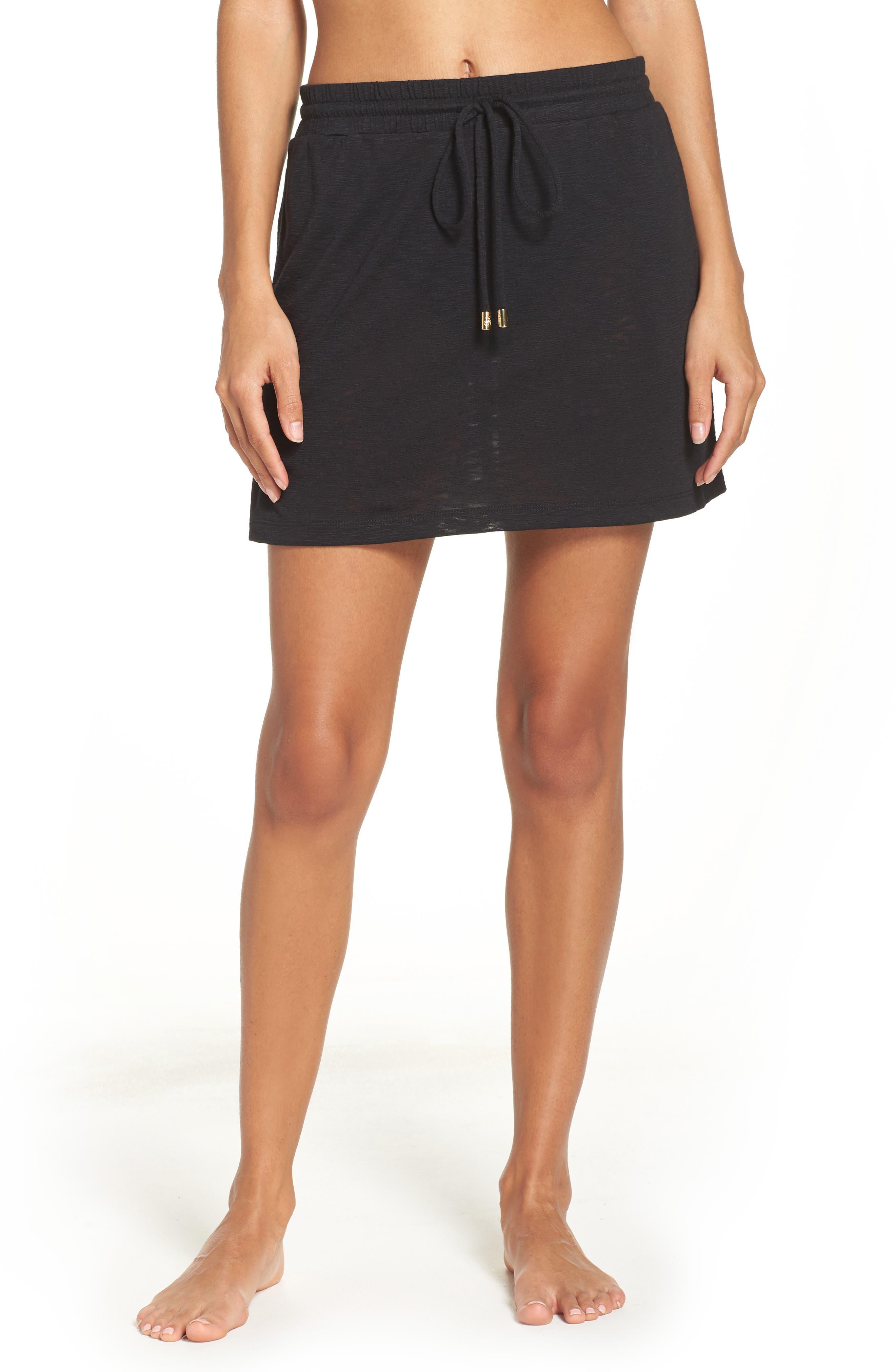 TOMMY BAHAMA,                             Cover-Up Skirt,                             Main thumbnail 1, color,                             BLACK
