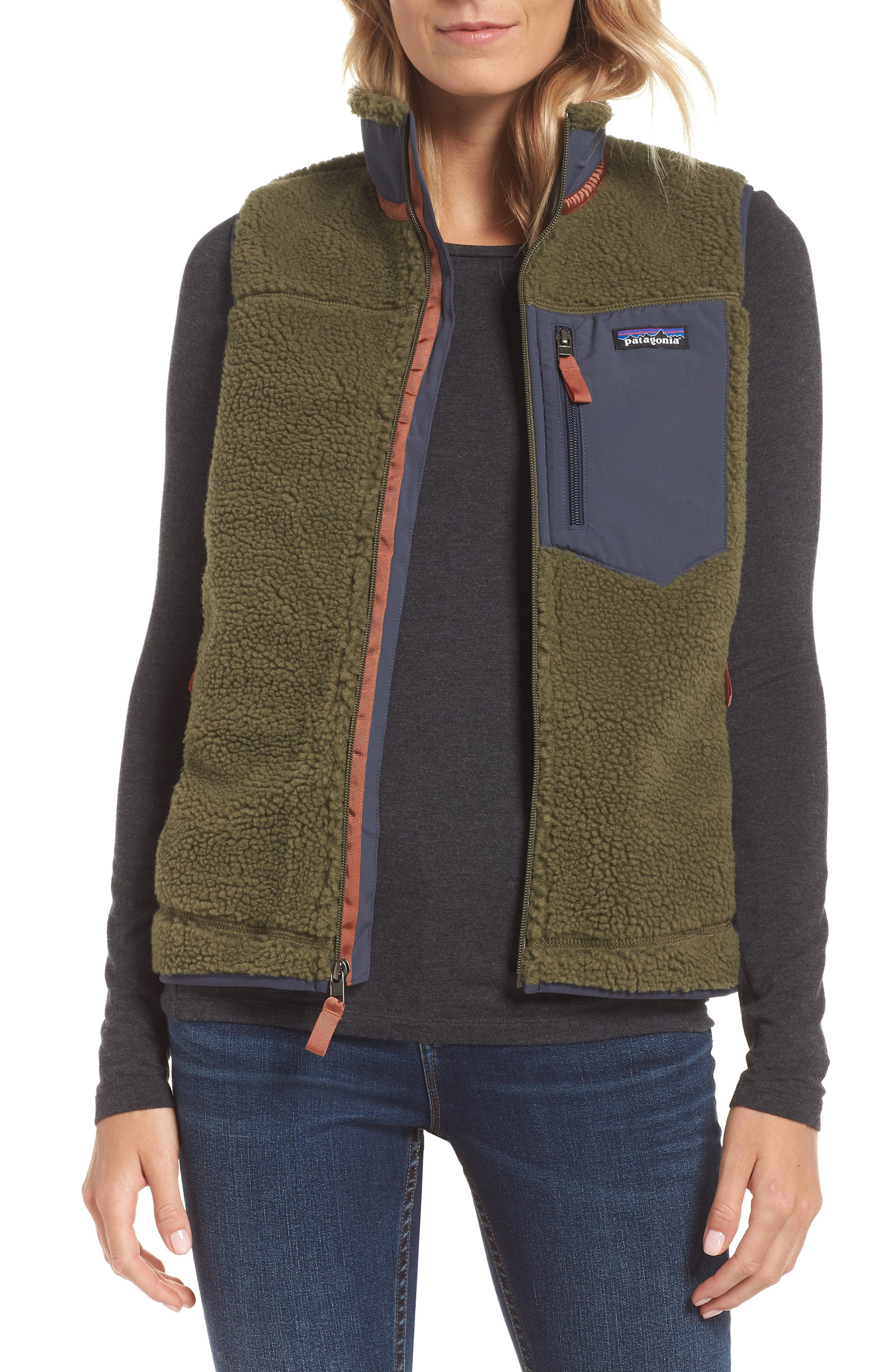 Classic Retro-X<sup>®</sup> Fleece Vest,                             Main thumbnail 1, color,                             FATIGUE GREEN