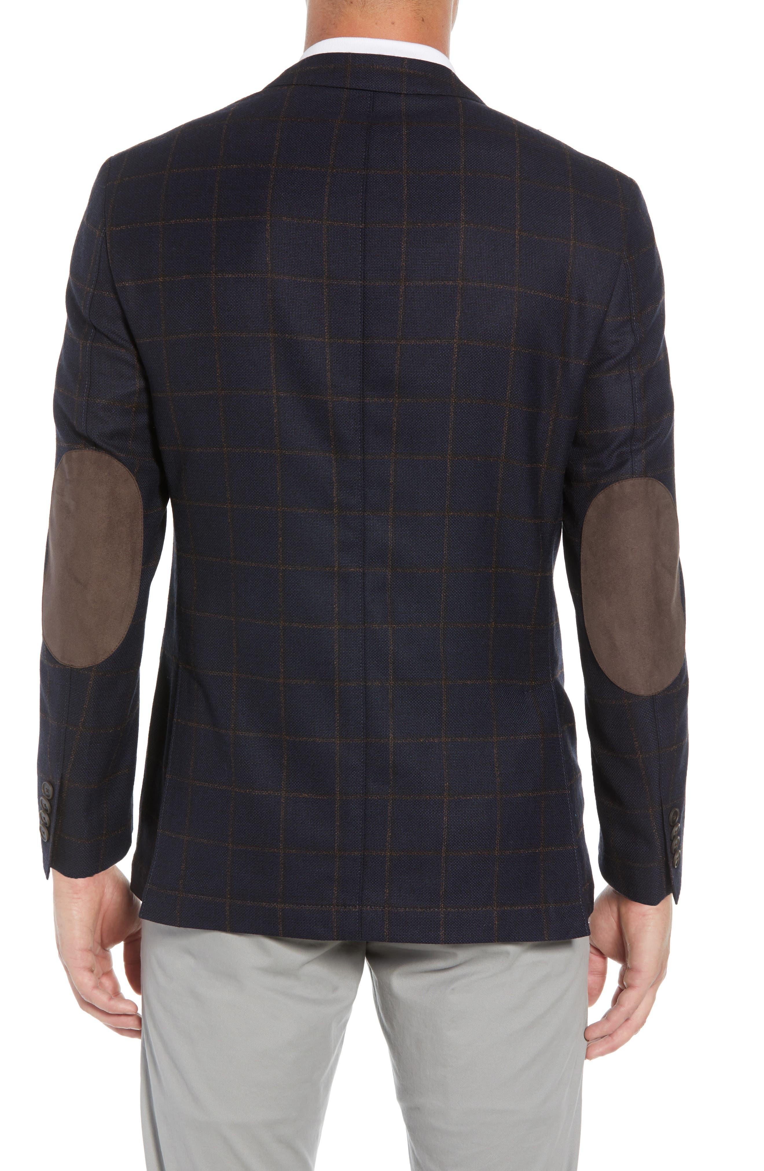 Edge 2 Classic Fit Windowpane Wool Sport Coat,                             Alternate thumbnail 2, color,                             410