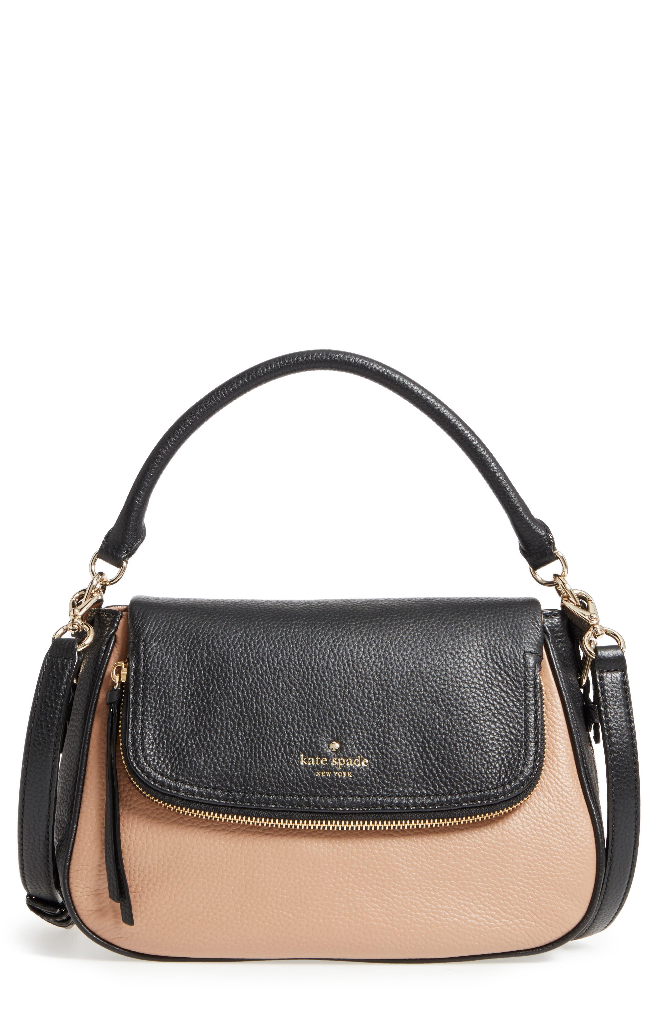 cobble hill - deva leather crossbody bag,                         Main,                         color,