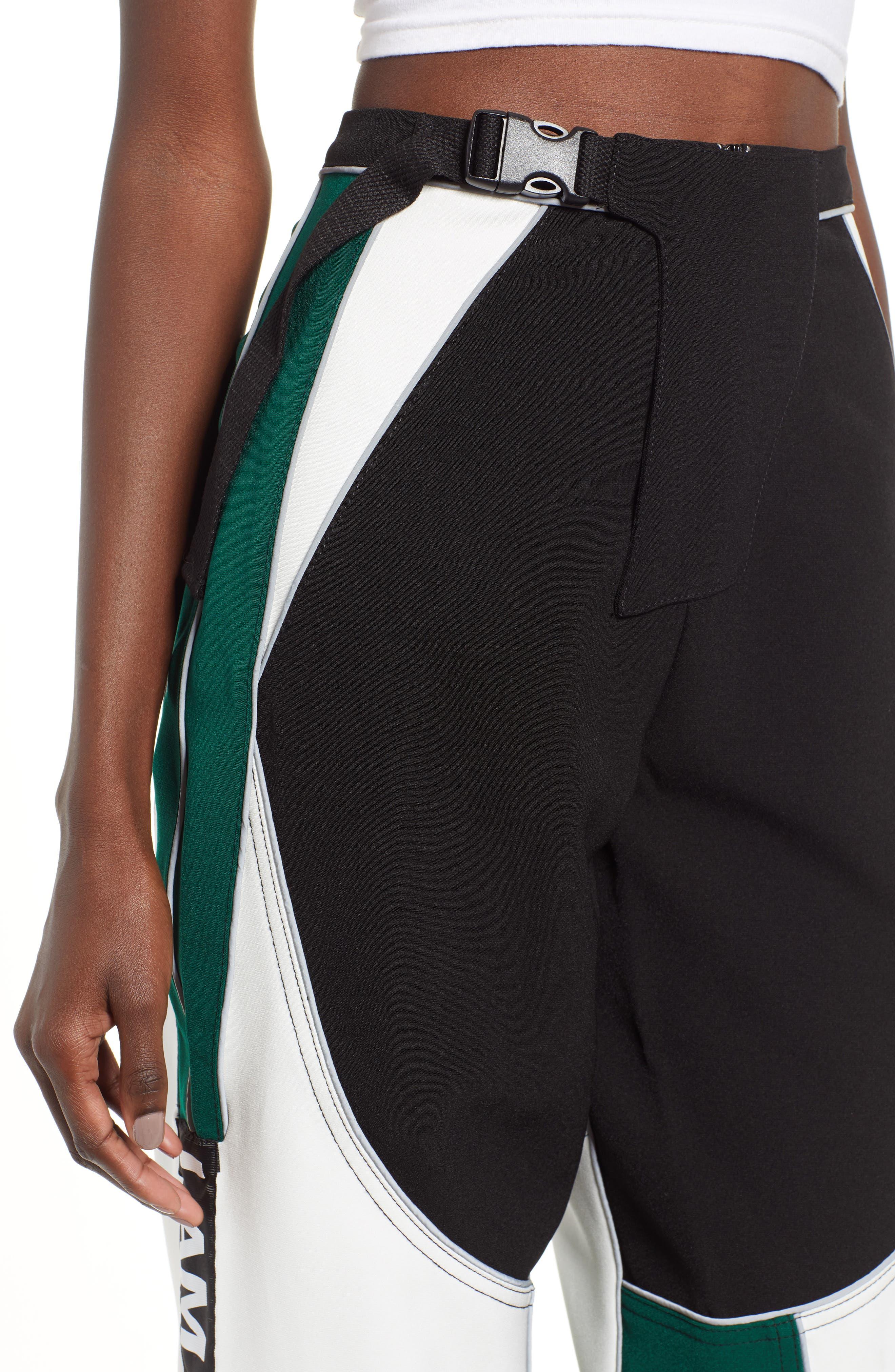 I.AM.GIA Electra Pants,                             Alternate thumbnail 4, color,                             BLACK/ GREEN