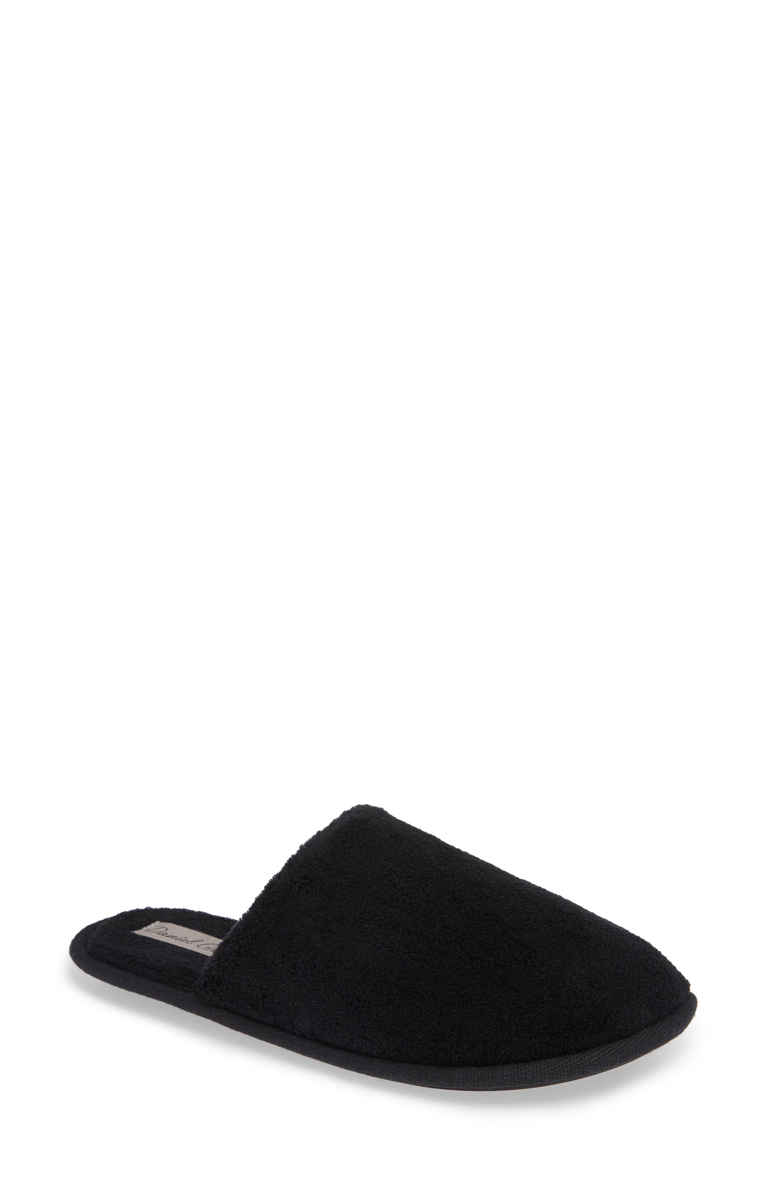 Rave II Slipper,                         Main,                         color, BLACK FABRIC