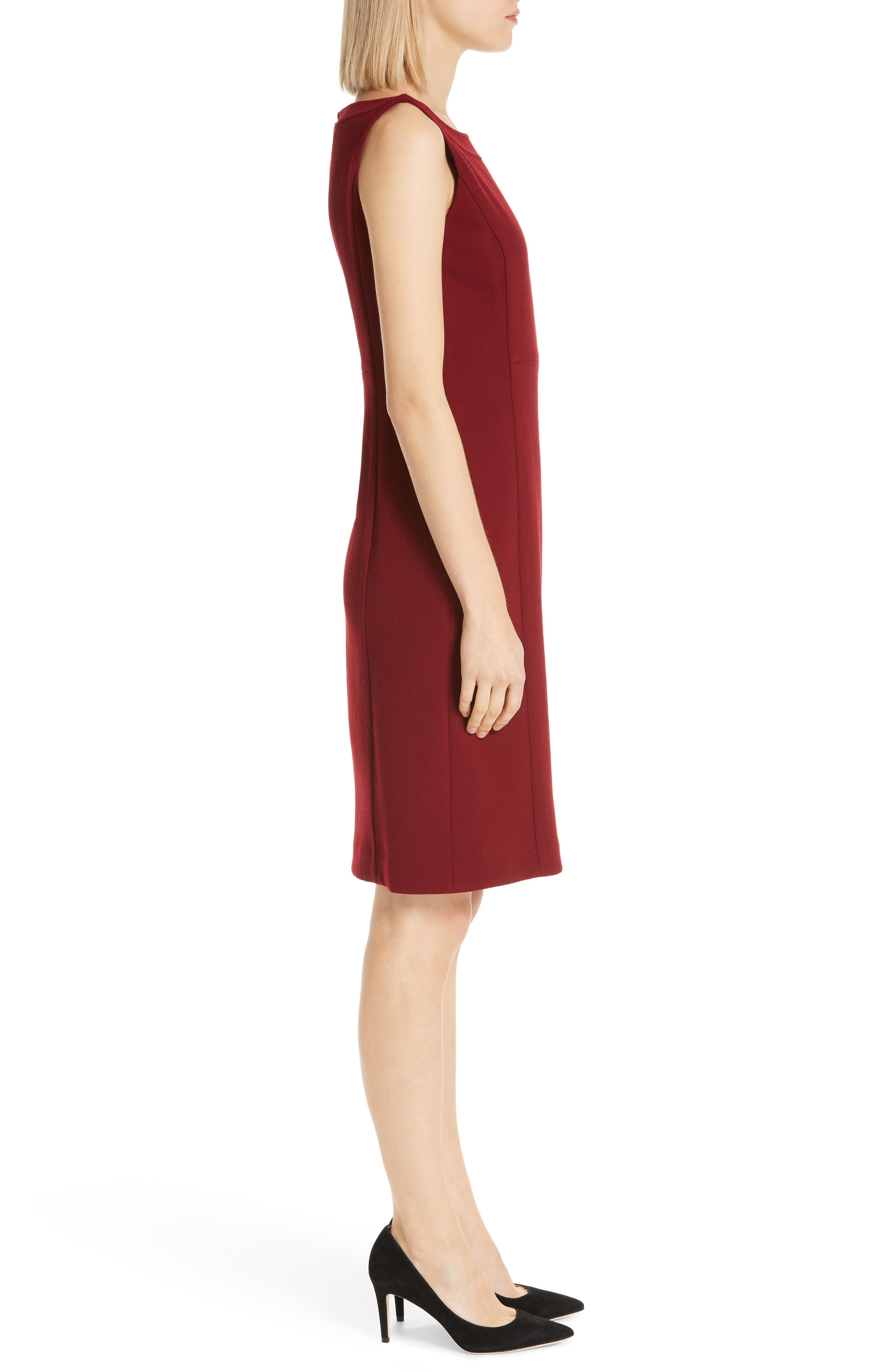Paxton Sheath Dress,                             Alternate thumbnail 3, color,                             SCARLET