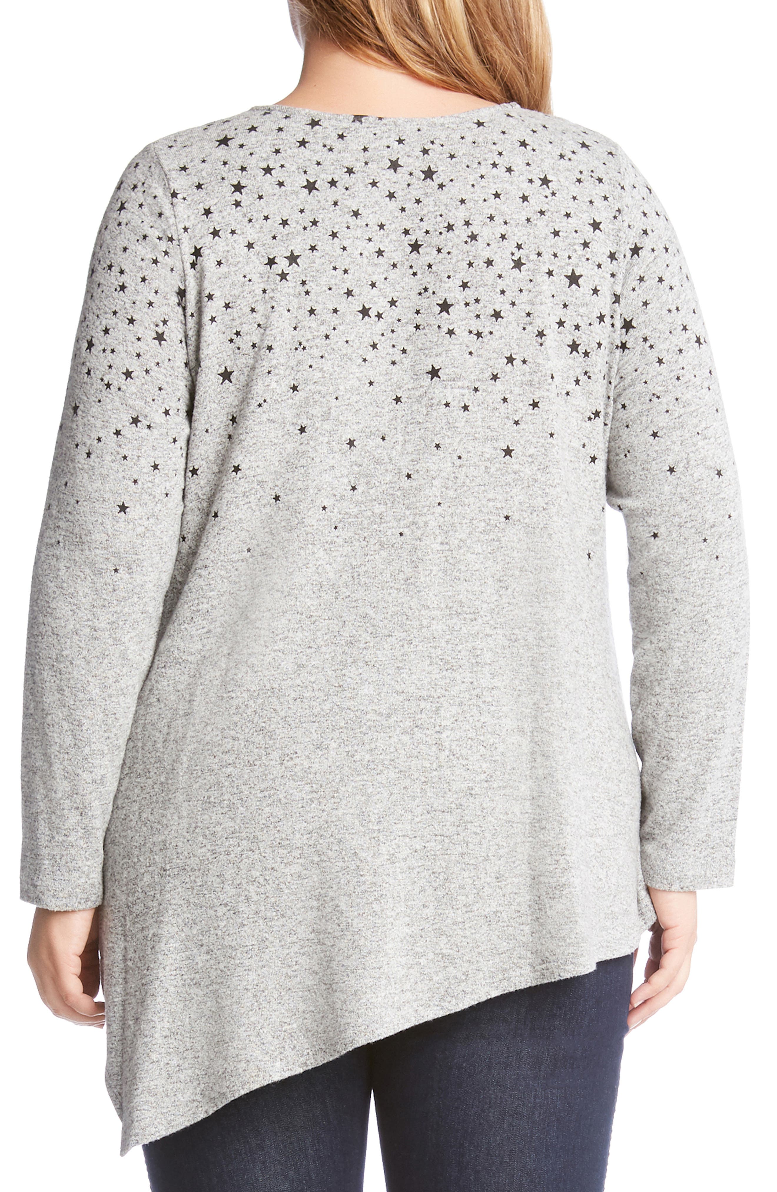 KAREN KANE,                             Asymmetrical Star Print Sweater,                             Alternate thumbnail 2, color,                             020