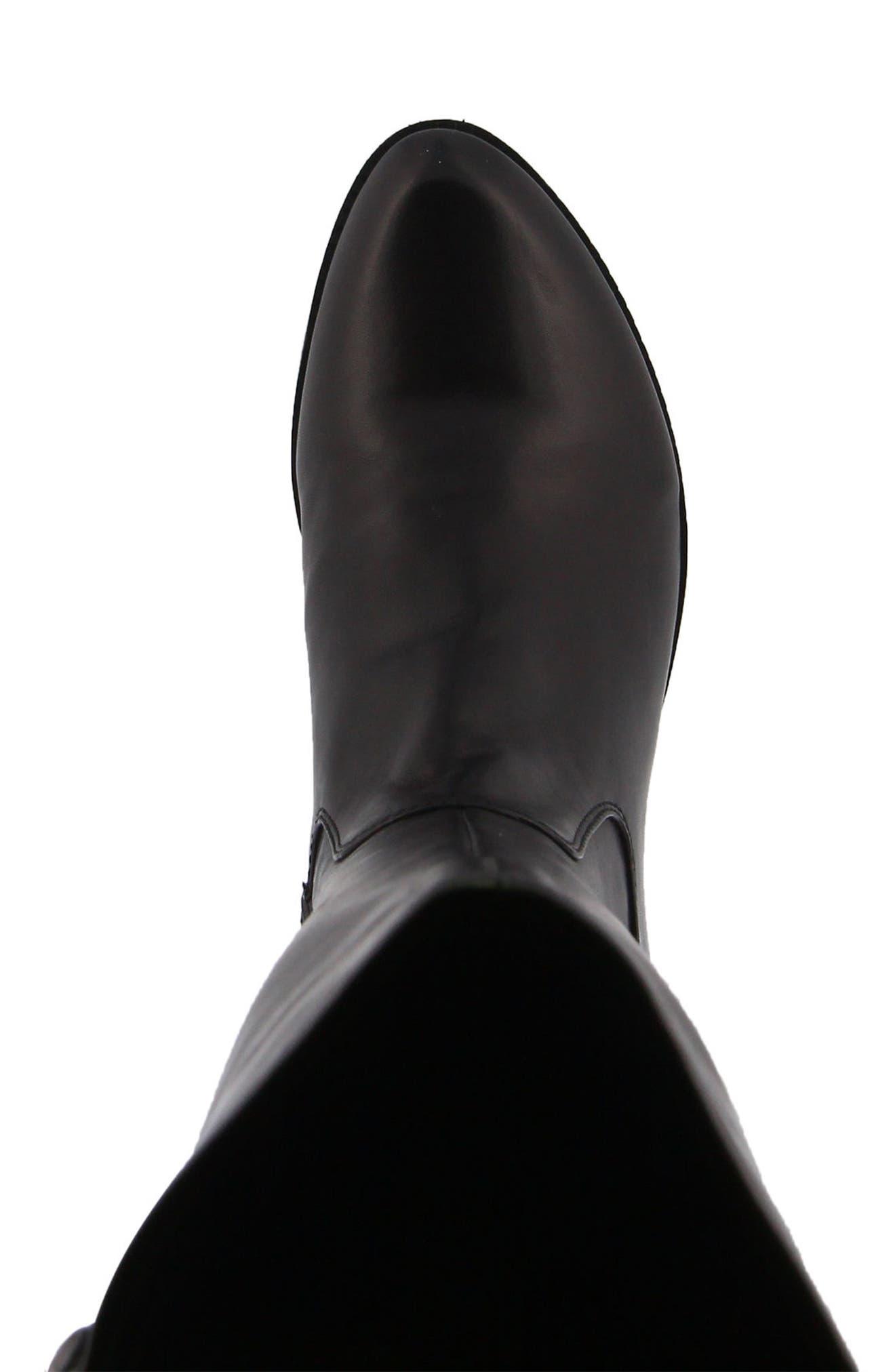 Bolah Tall Boot,                             Alternate thumbnail 4, color,                             BLACK LEATHER