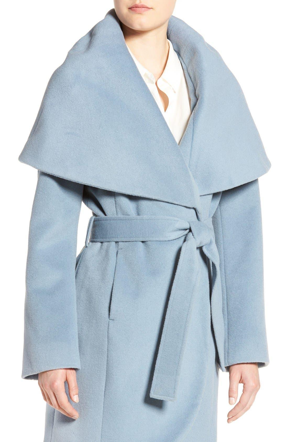 T Tahari Wool Blend Belted Wrap Coat,                             Alternate thumbnail 52, color,