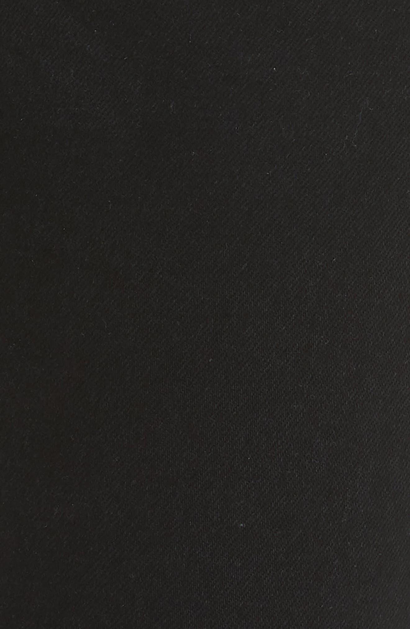 High Waist Stretch Ankle Jeans,                             Alternate thumbnail 6, color,                             BLACK DESTROY