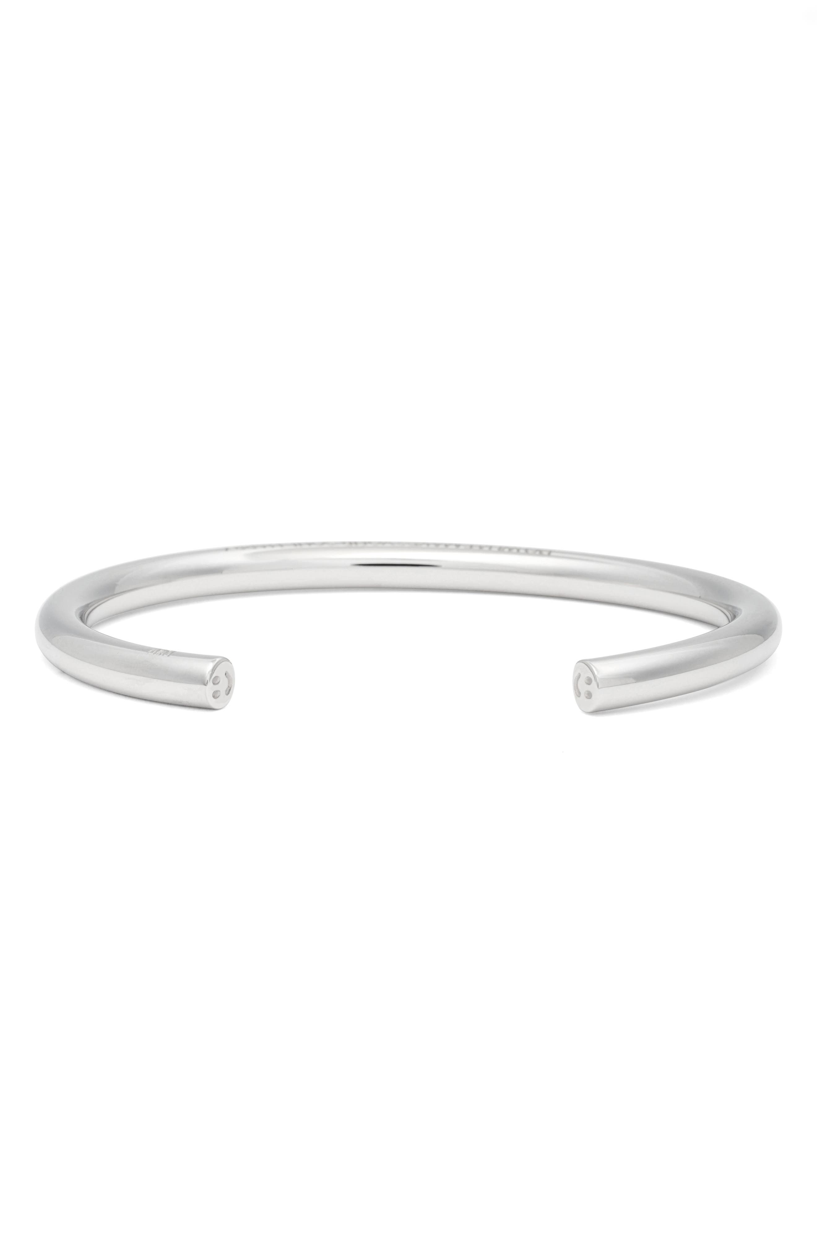 Do What Makes Your Soul Happy Cuff,                         Main,                         color, SILVER