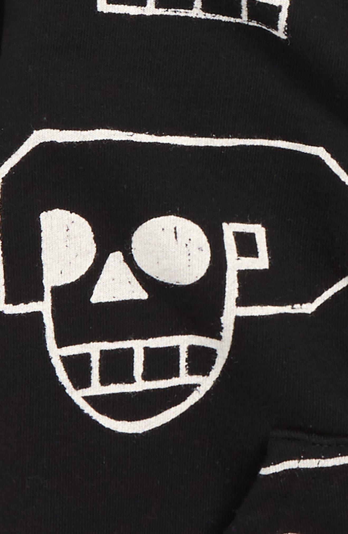 Skull Robot Full Zip Hoodie,                             Alternate thumbnail 2, color,                             BLACK