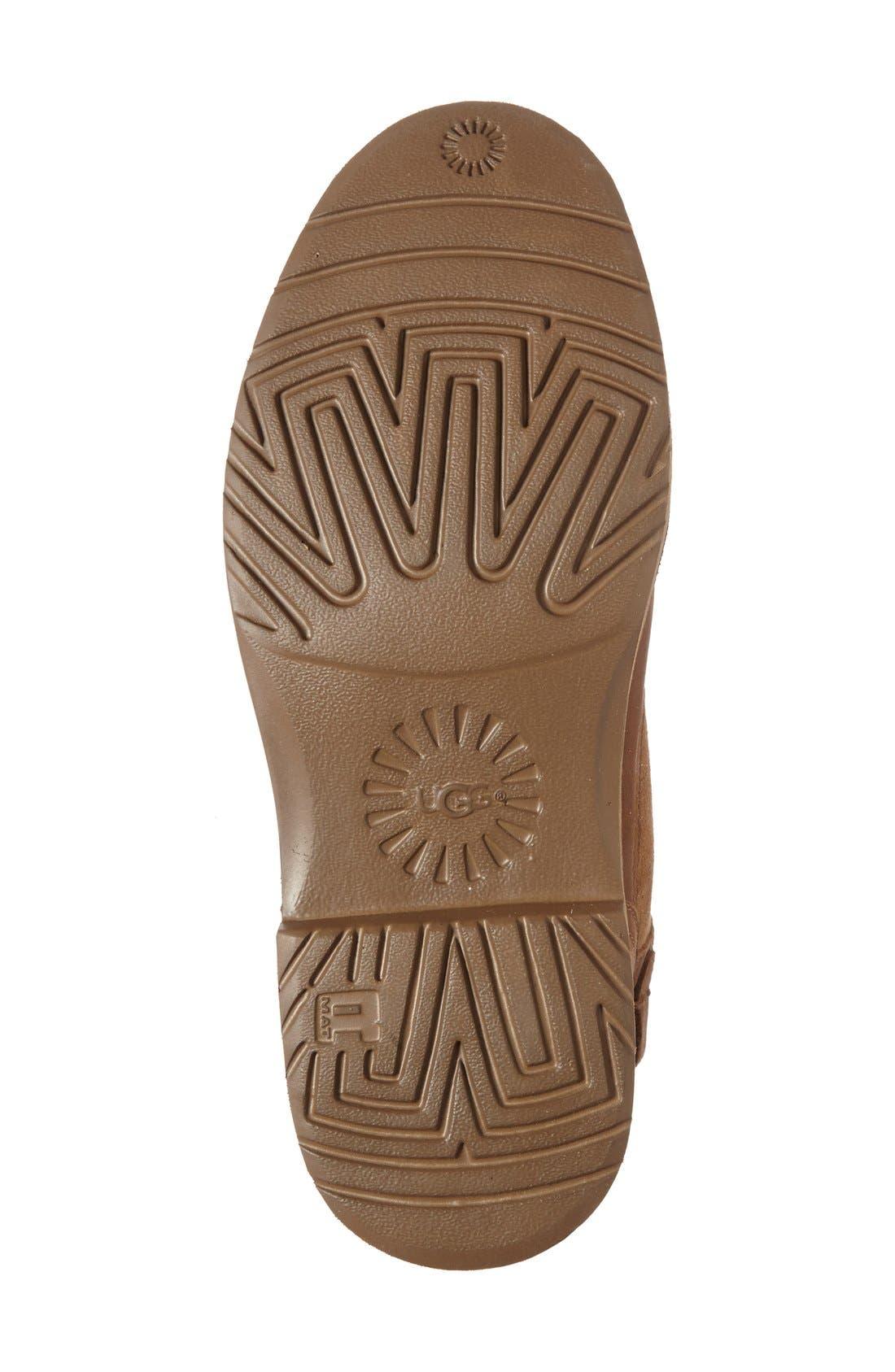 Naiyah Lace-Back Genuine Shearling Boot,                             Alternate thumbnail 4, color,                             219
