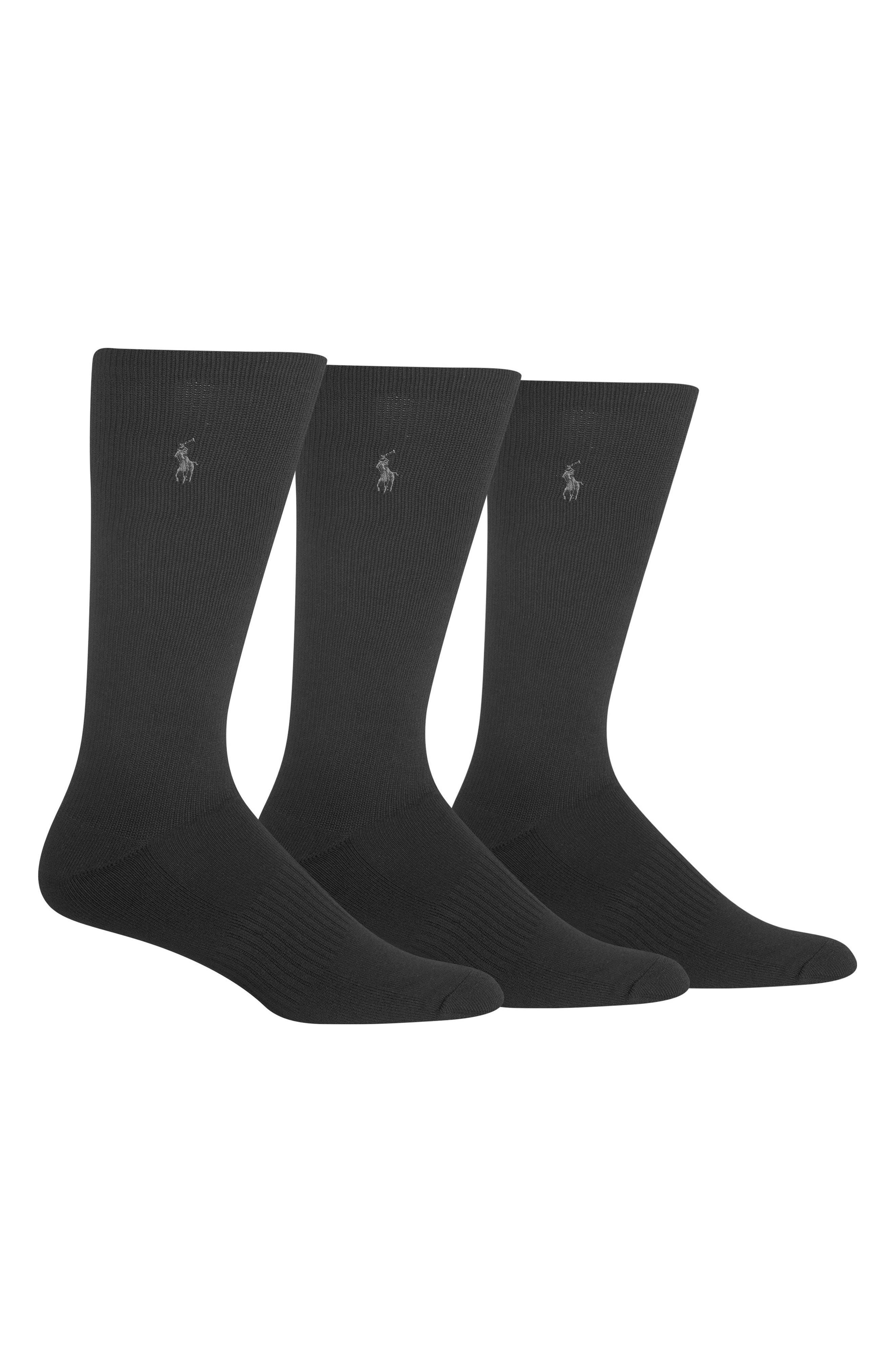 3-Pack Compression Socks,                             Main thumbnail 1, color,                             001