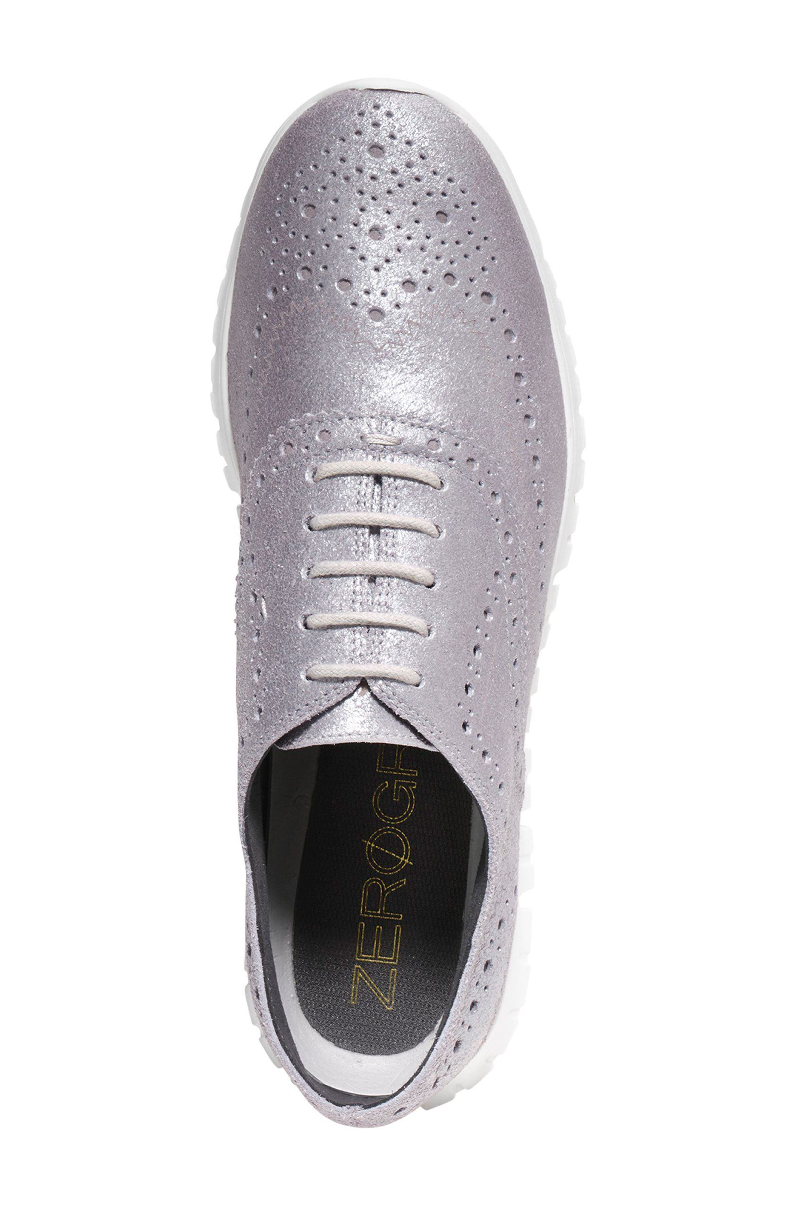 ZERØGRAND Wingtip Oxford Sneaker,                             Alternate thumbnail 4, color,                             020