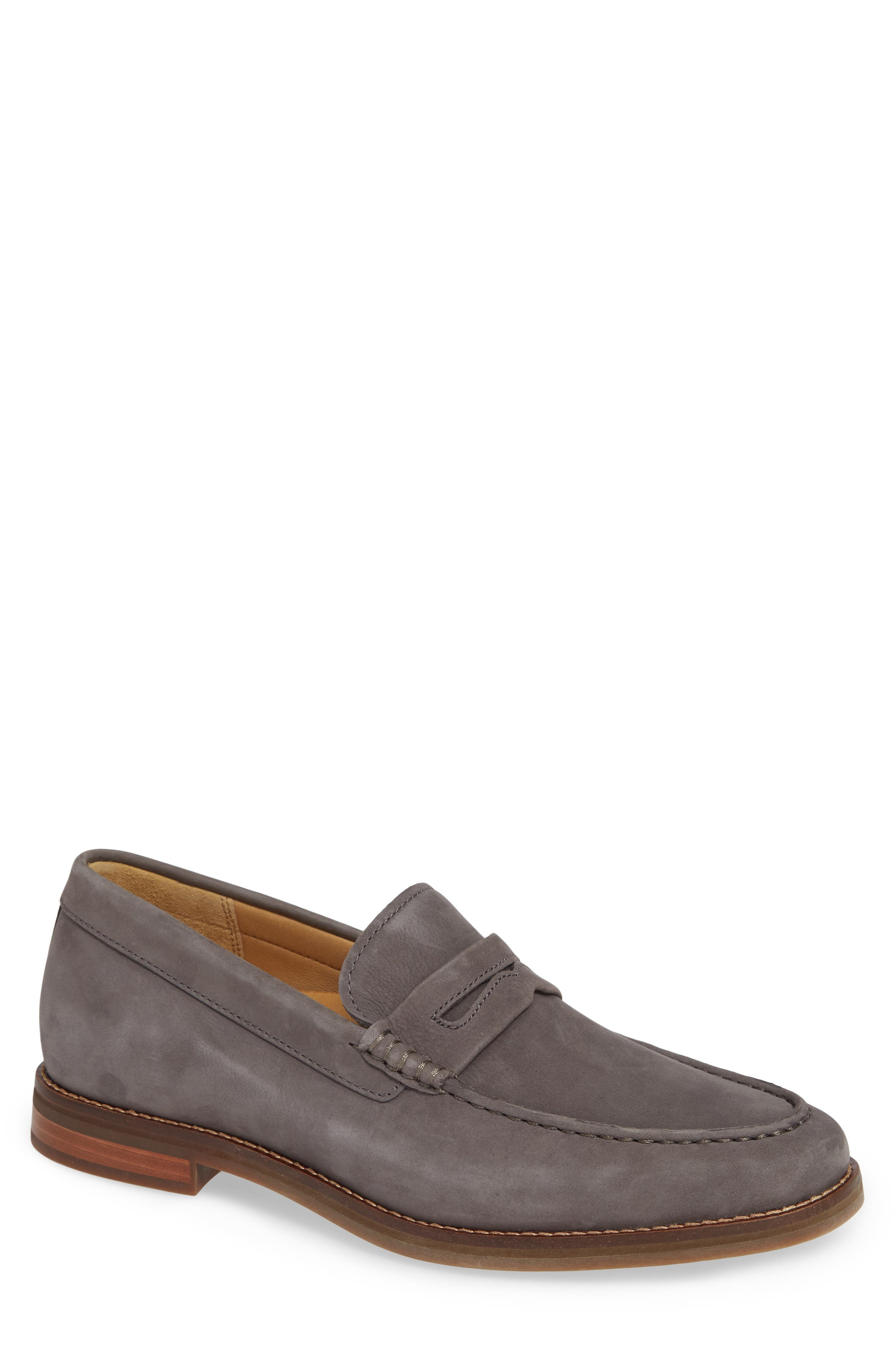 Gold Cup Exeter Penny Loafer,                             Main thumbnail 1, color,                             GREY