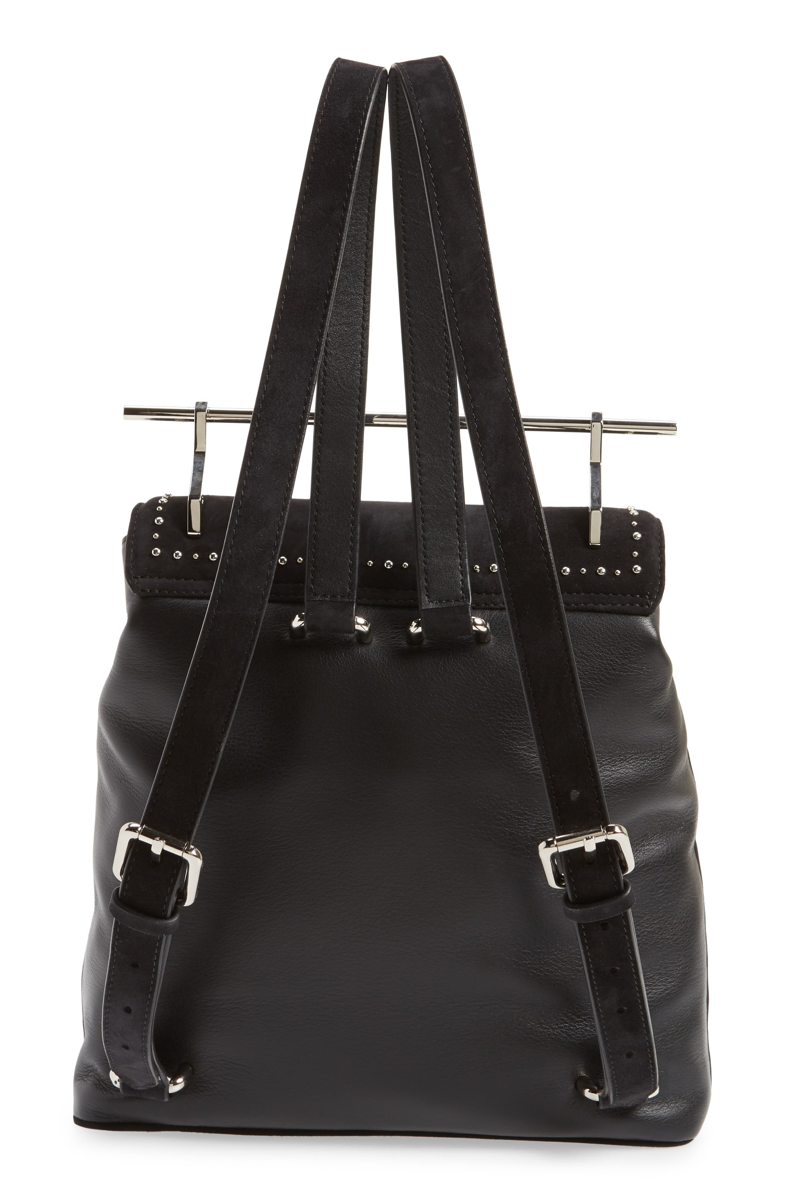 Mini Studded Suede Backpack,                             Alternate thumbnail 3, color,