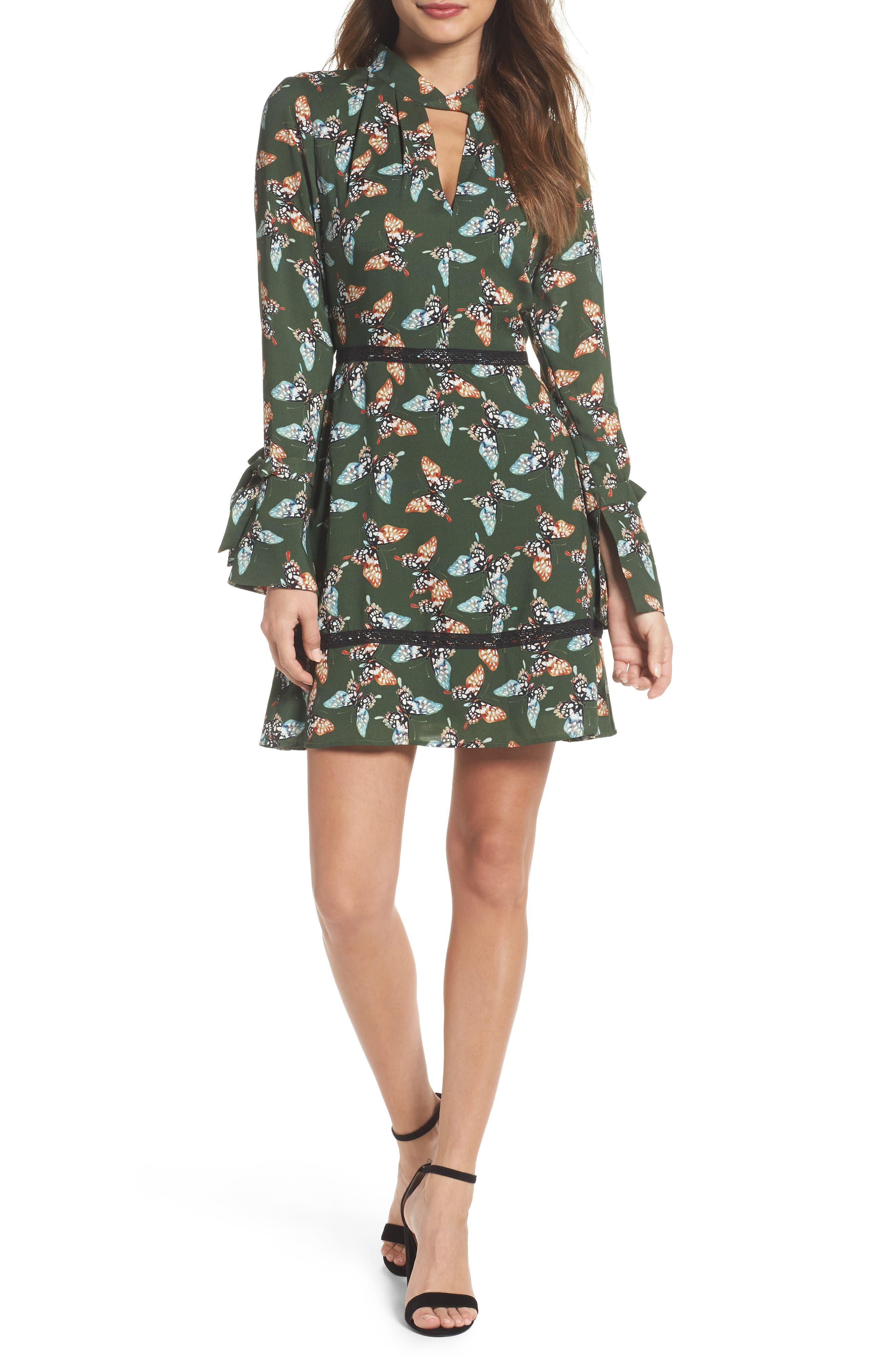 Odessa Fit & Flare Dress,                         Main,                         color, 310