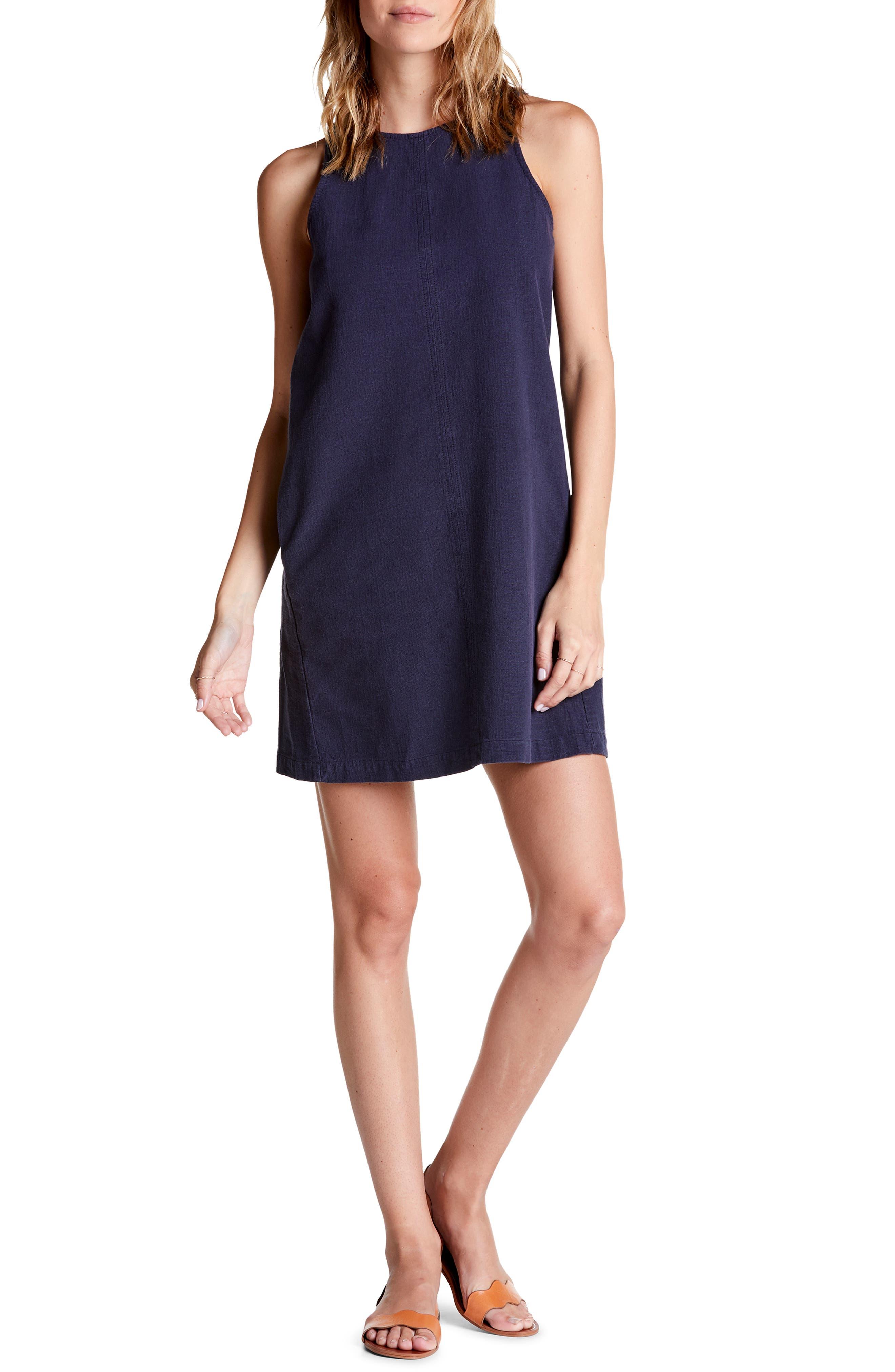 Michael Stars Riley Sleeveless Shift Dress, Blue/green