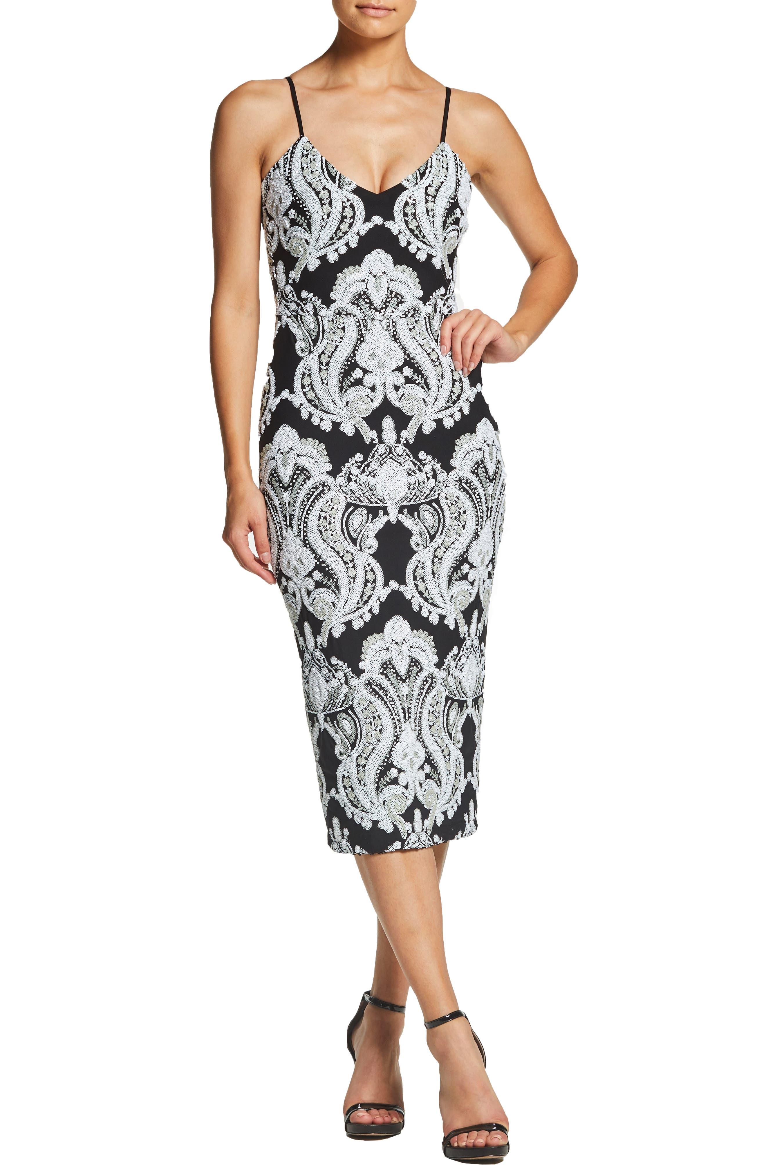 Dress The Population Ava Sequin Midi Dress