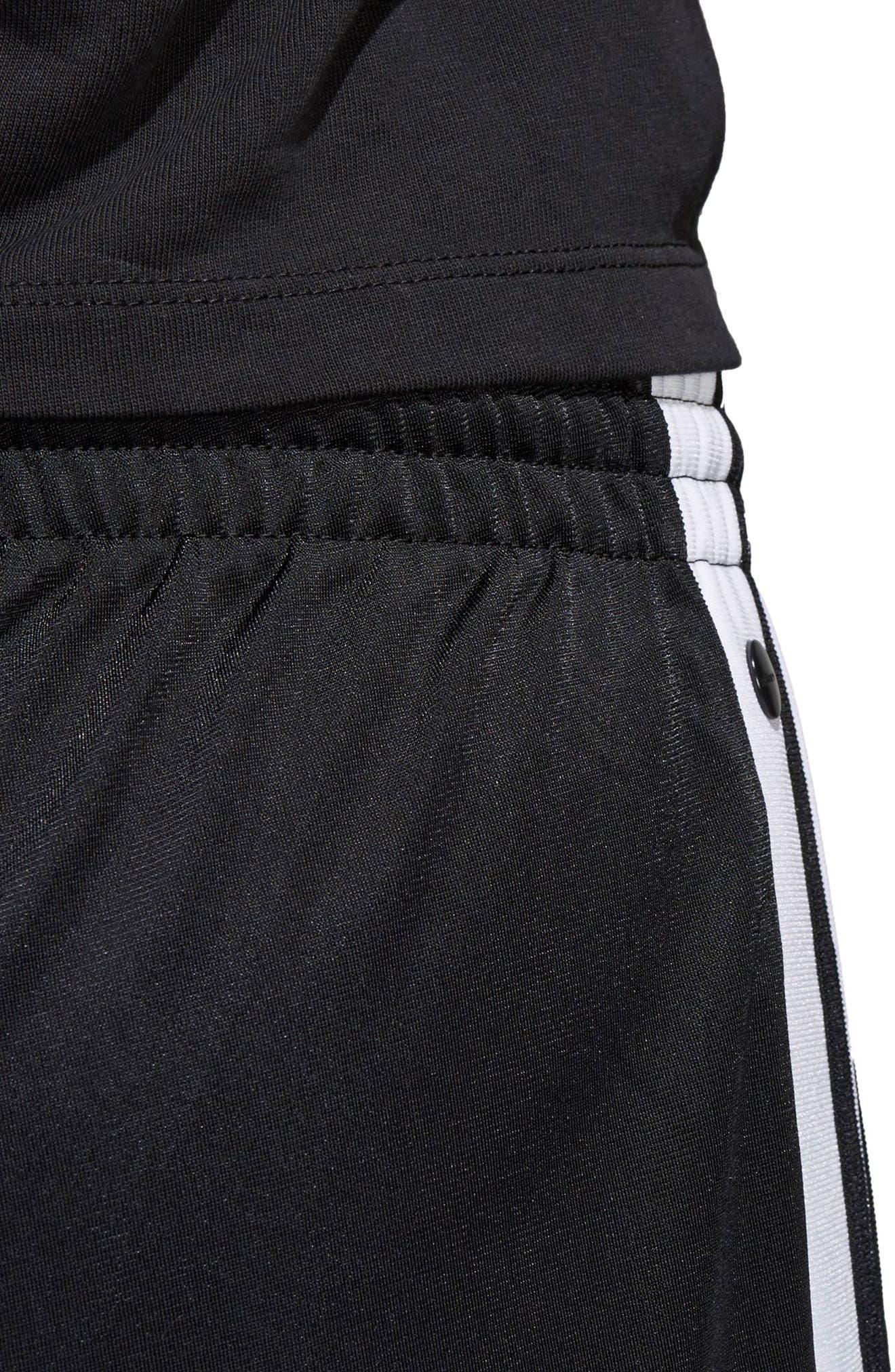 Adibreak Tearaway Track Pants,                             Alternate thumbnail 8, color,                             BLACK/ CARBON