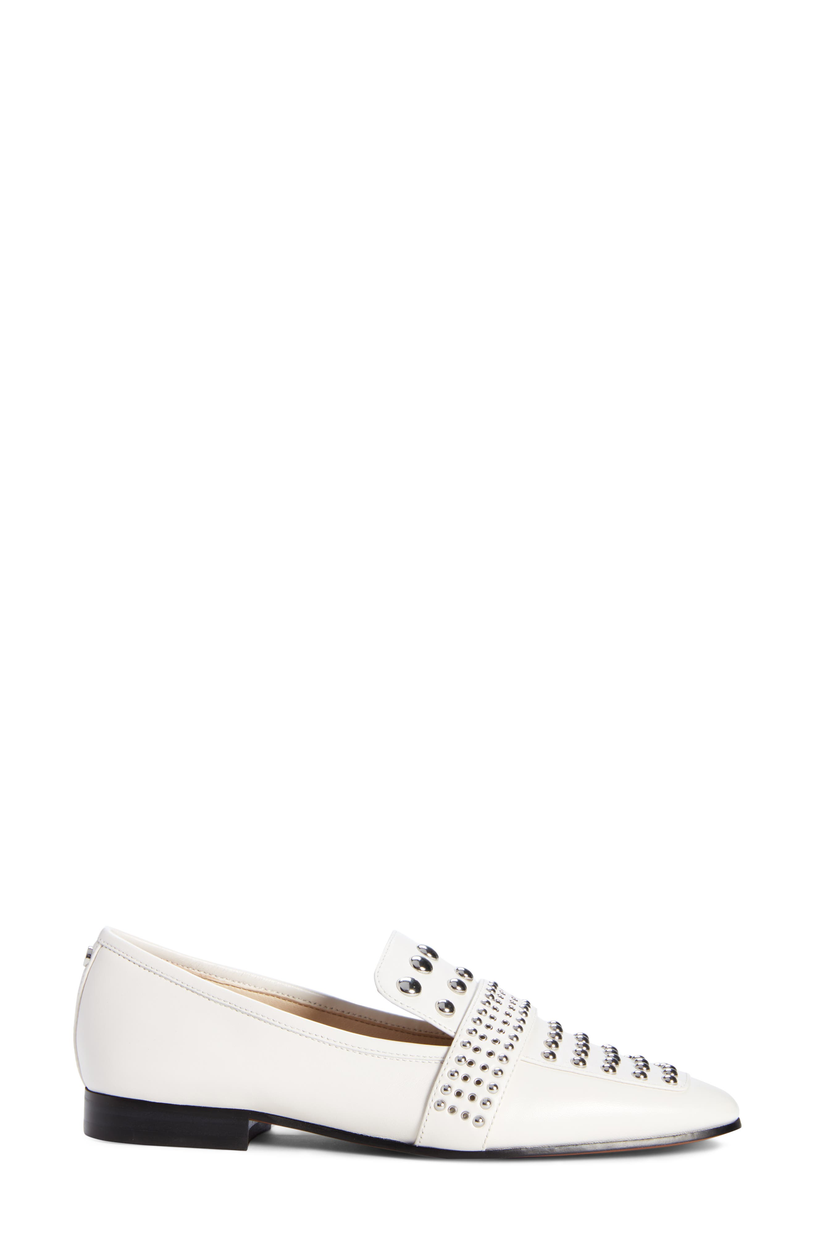Chesney Loafer,                             Alternate thumbnail 3, color,                             BRIGHT WHITE LEATHER