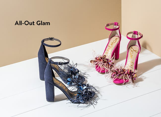 All-out-glam women's heels.