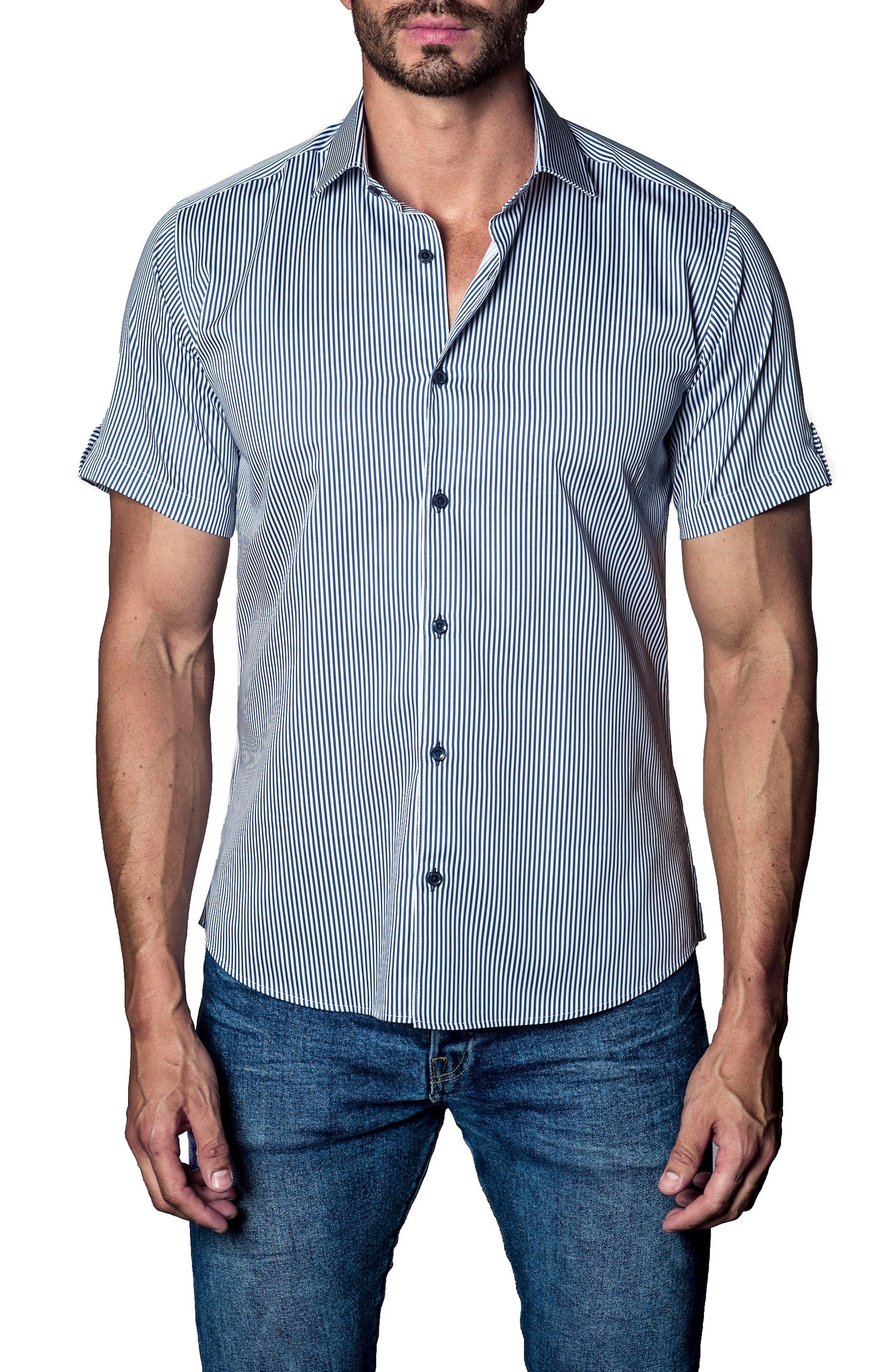 Stripe Sport Shirt,                         Main,                         color, 485