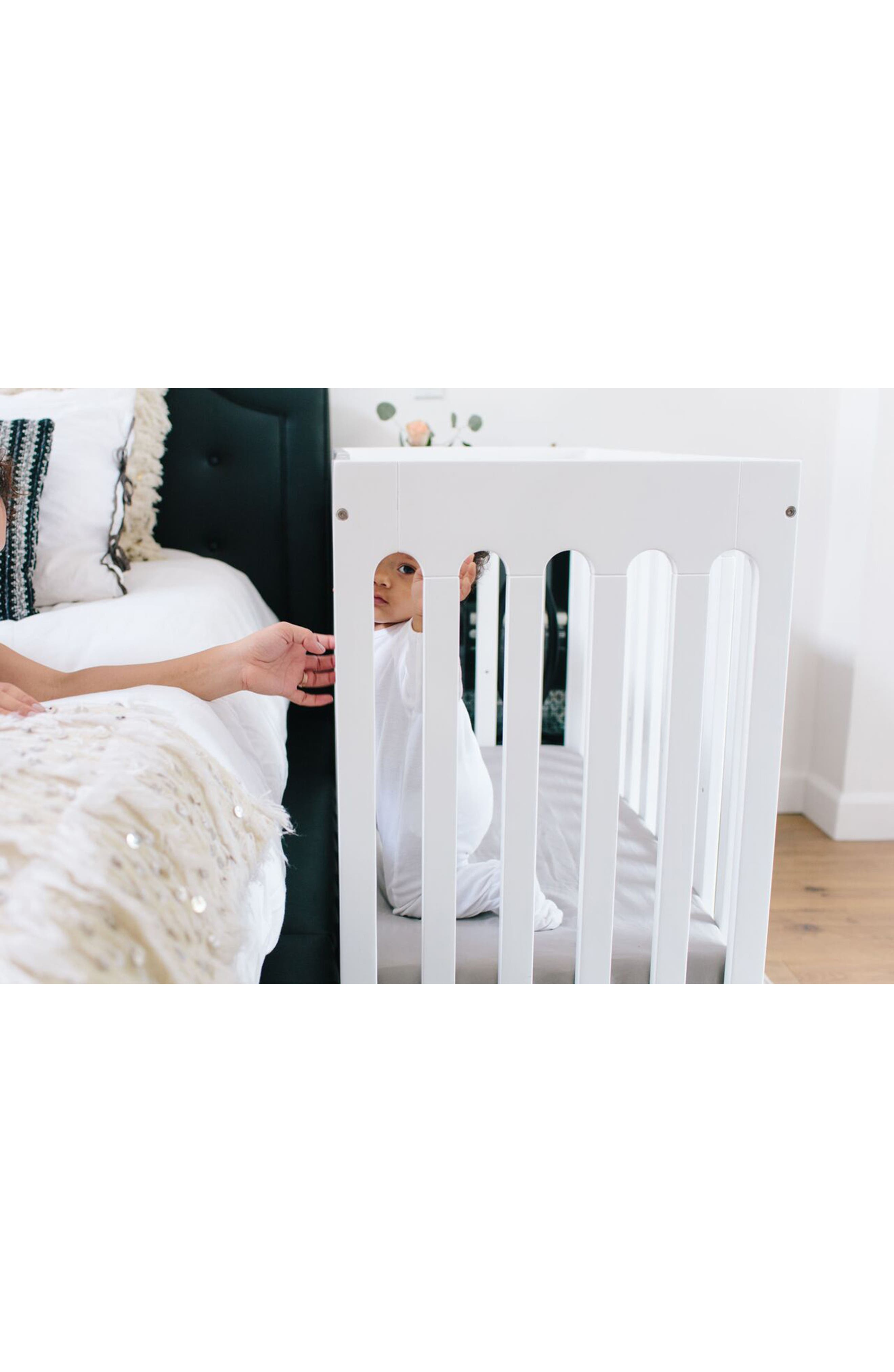 Baby Alma Urban Mini Solid Wood Crib,                             Alternate thumbnail 8, color,                             COCONUT WHITE