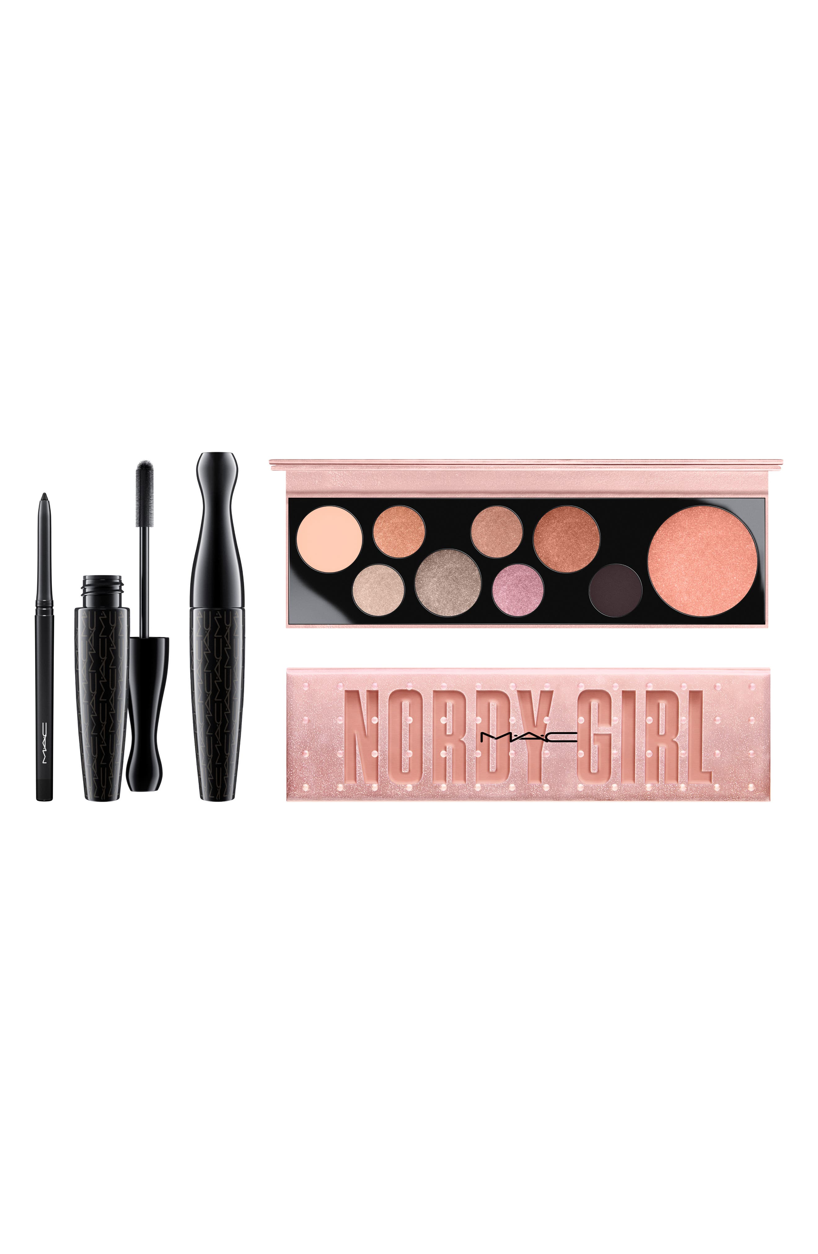 MAC Nordy Girl Metallic Face & Eye Set,                             Main thumbnail 1, color,                             000