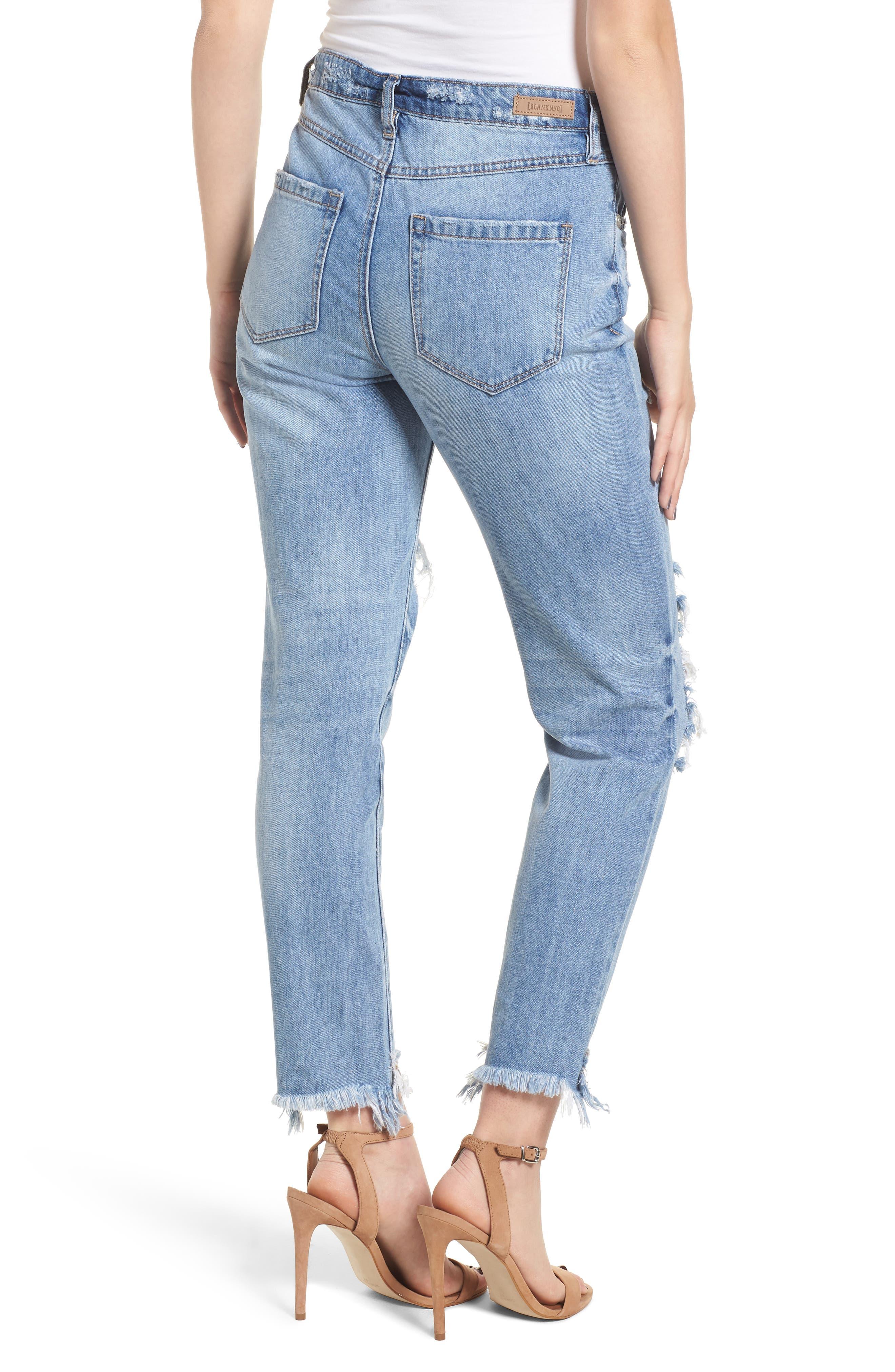The Rivington Ripped Straight Leg Jeans,                             Alternate thumbnail 2, color,                             420