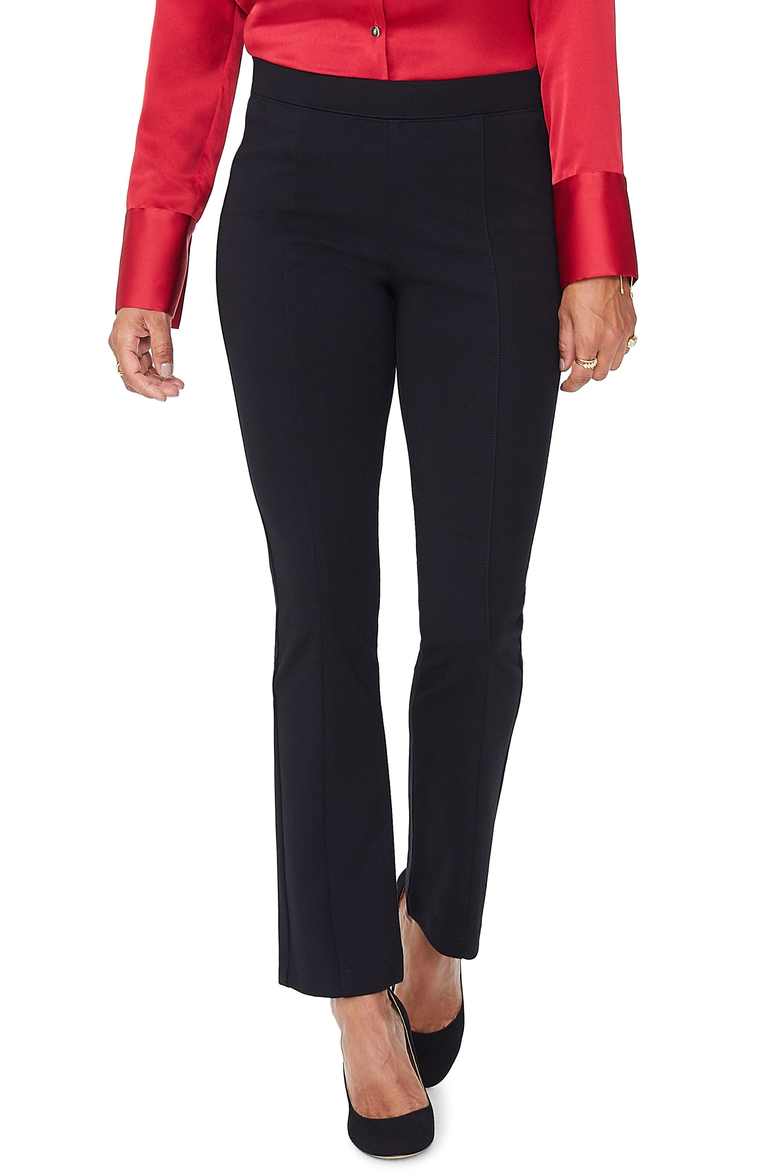 Ankle Bootcut Knit Pants,                         Main,                         color, BLACK