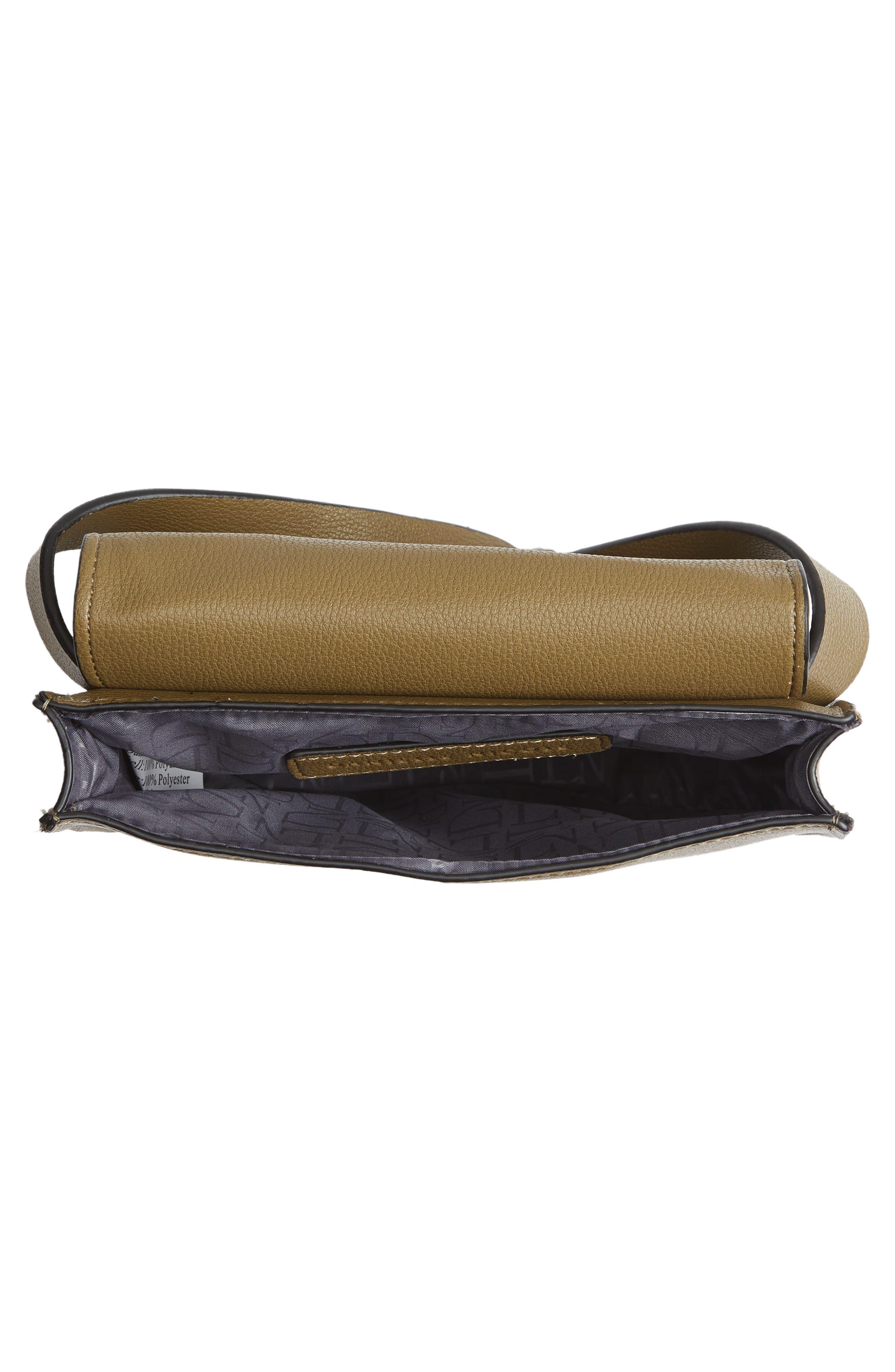 Alissa Faux Leather Belt Bag,                             Alternate thumbnail 5, color,                             OLIVE