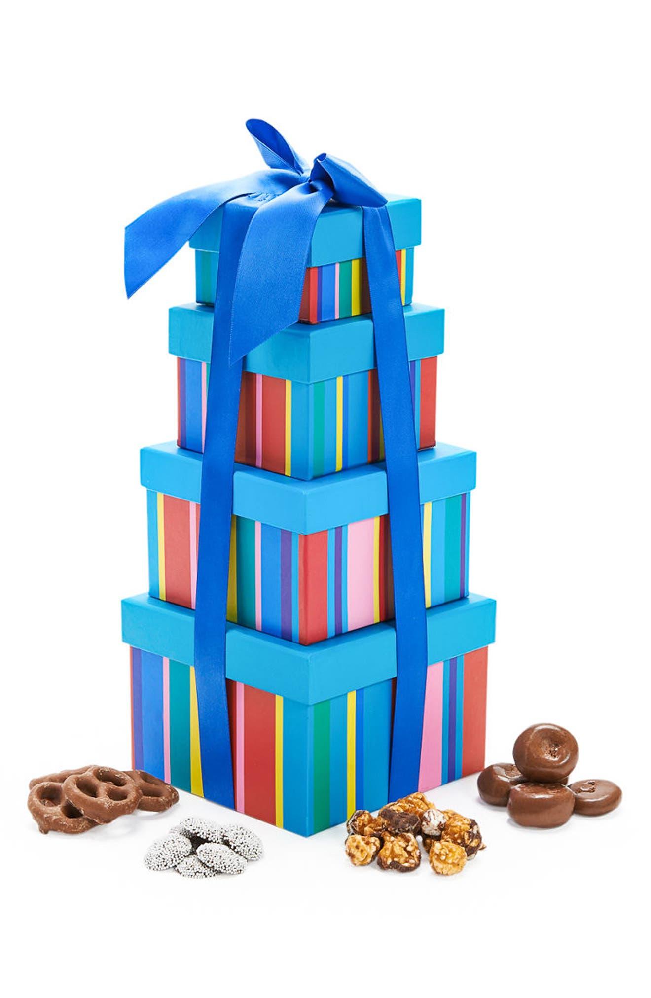 Chocolate Sweet Treat Tower,                             Main thumbnail 1, color,                             400