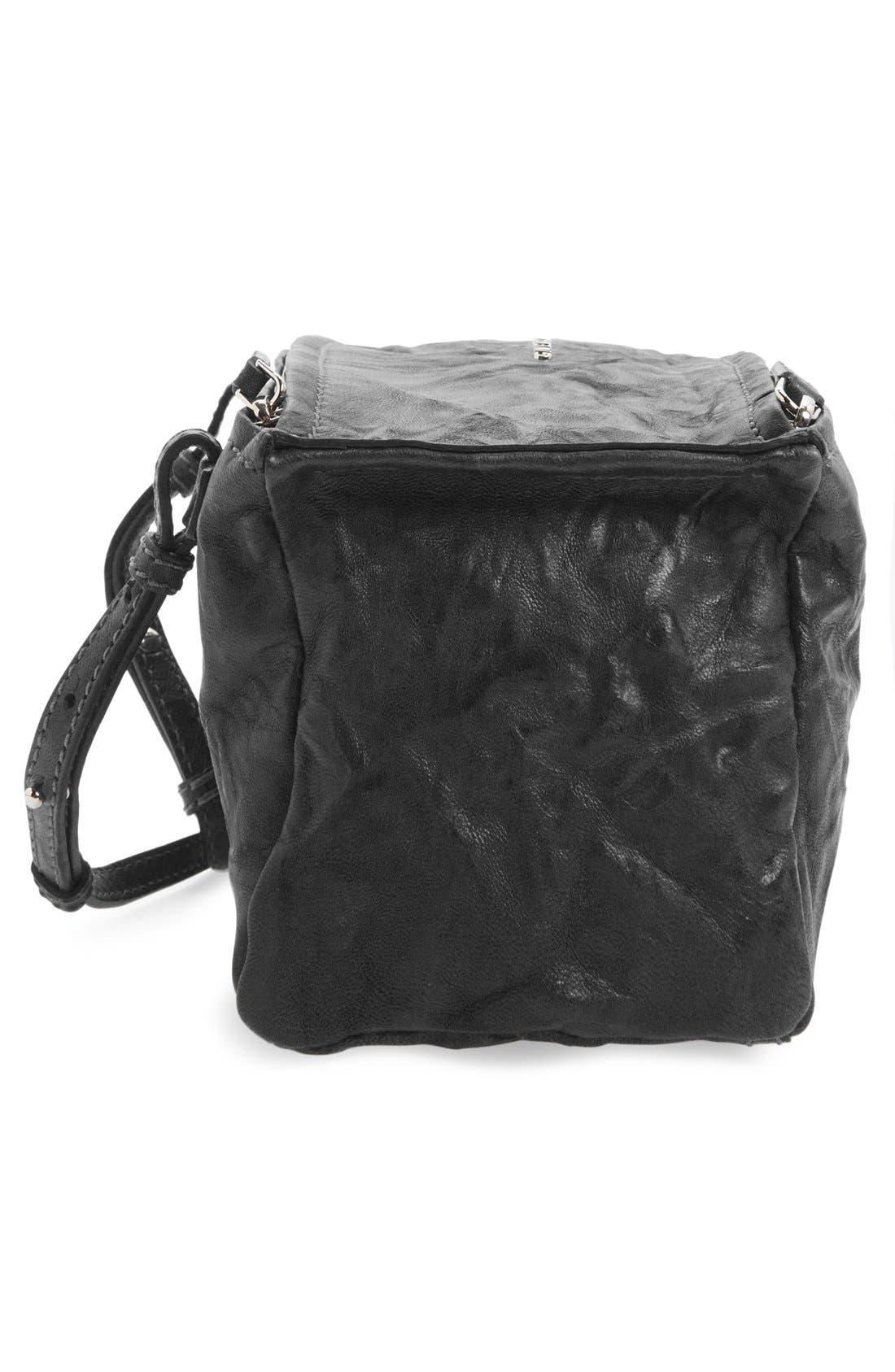 'Mini Pepe Pandora' Leather Shoulder Bag,                             Alternate thumbnail 3, color,                             BLACK