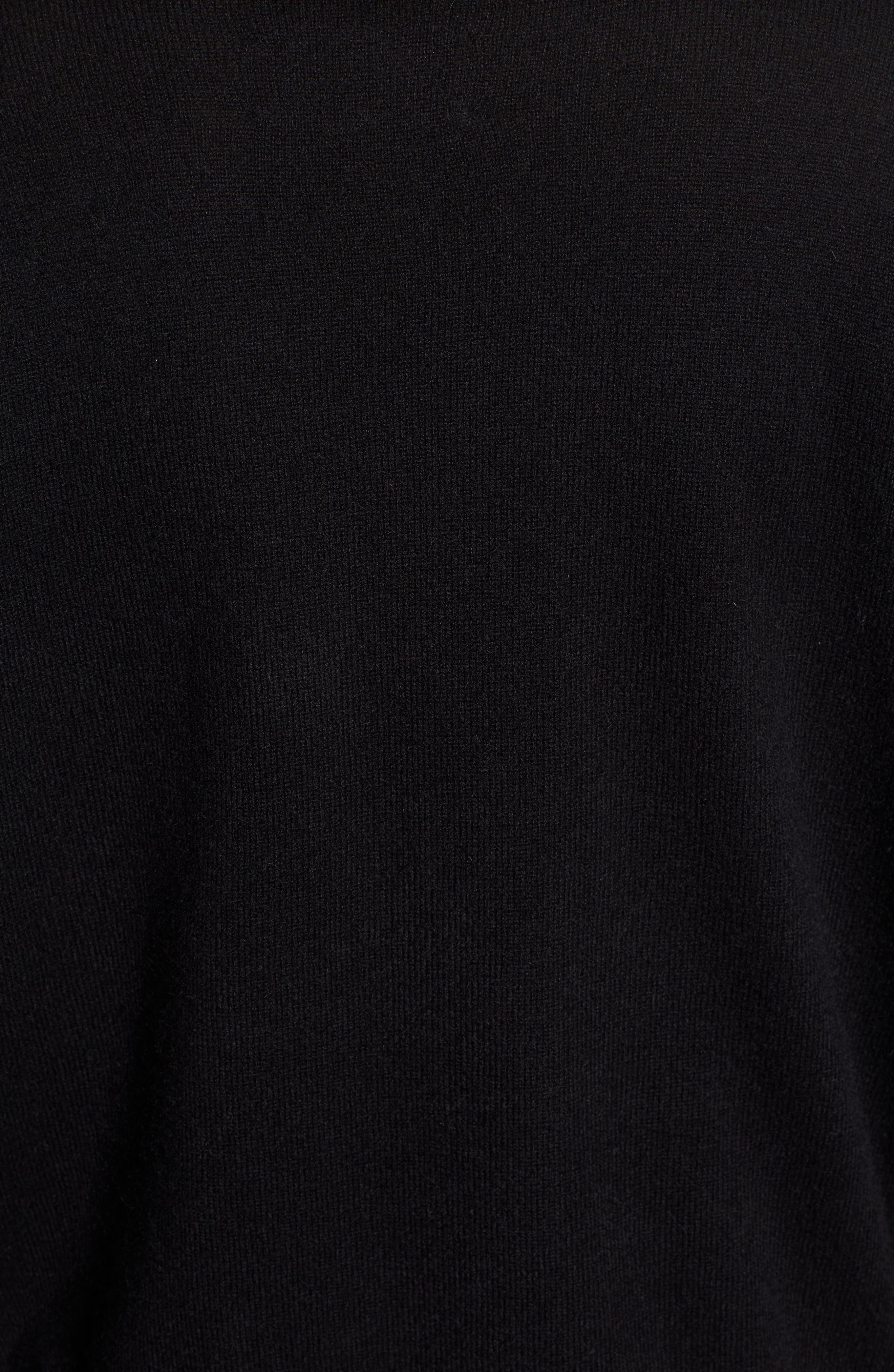 Gaby Cashmere Sweater,                             Alternate thumbnail 5, color,                             NOIR