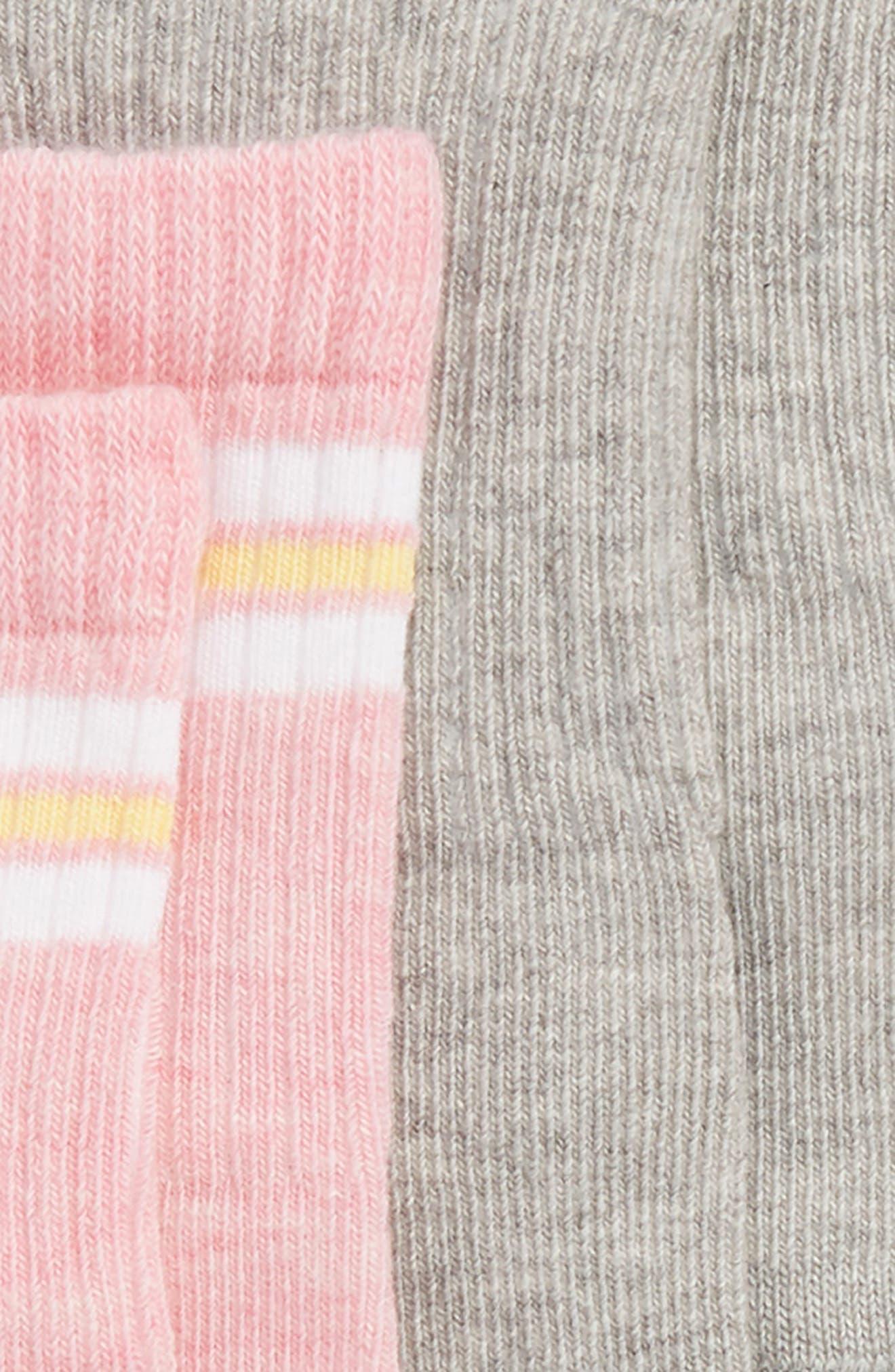 Smile 3-Pack Crew Socks,                             Alternate thumbnail 3, color,                             YELLOW MULTI
