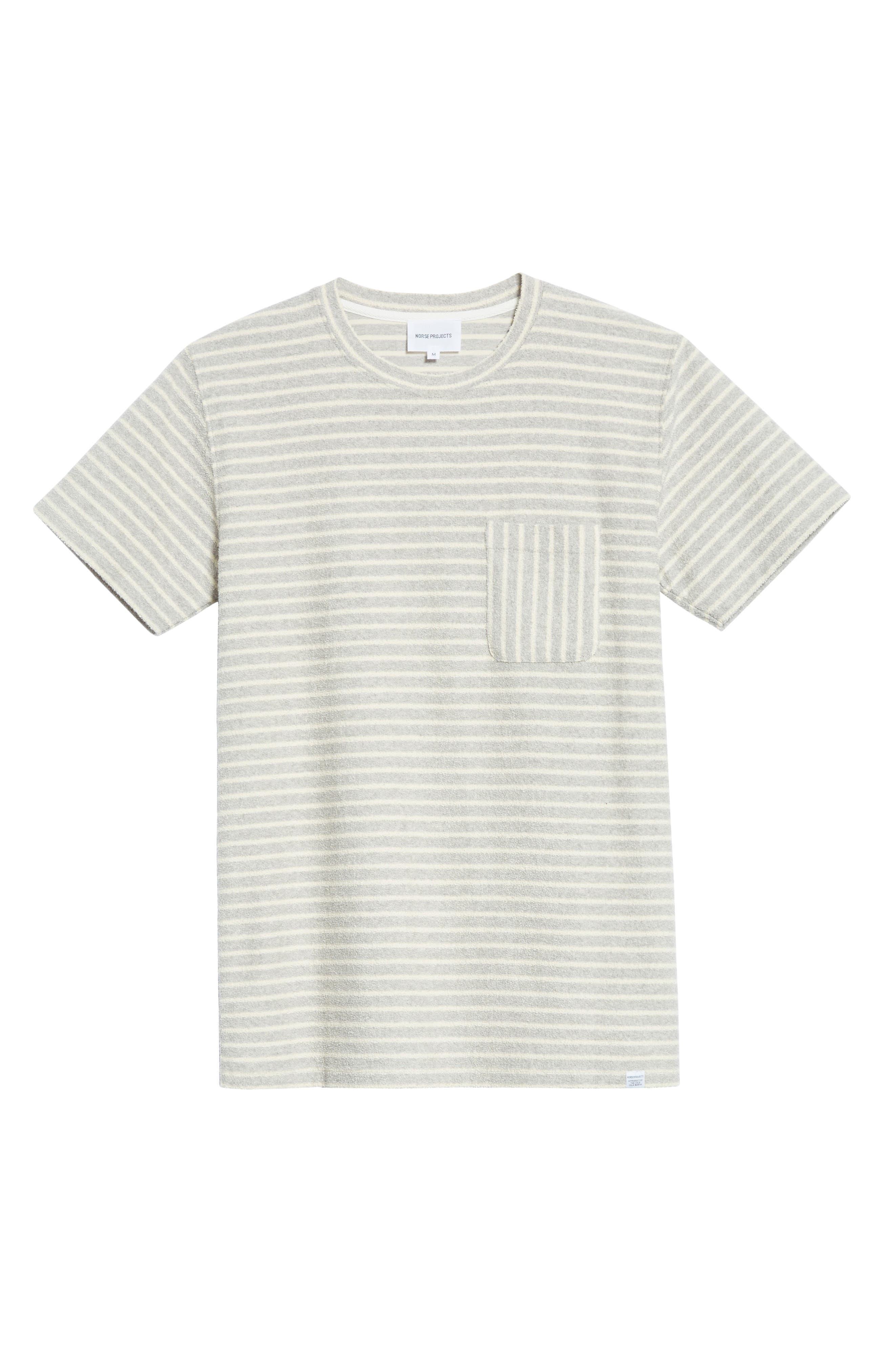 Niels Stripe Pocket T-Shirt,                             Alternate thumbnail 6, color,                             050