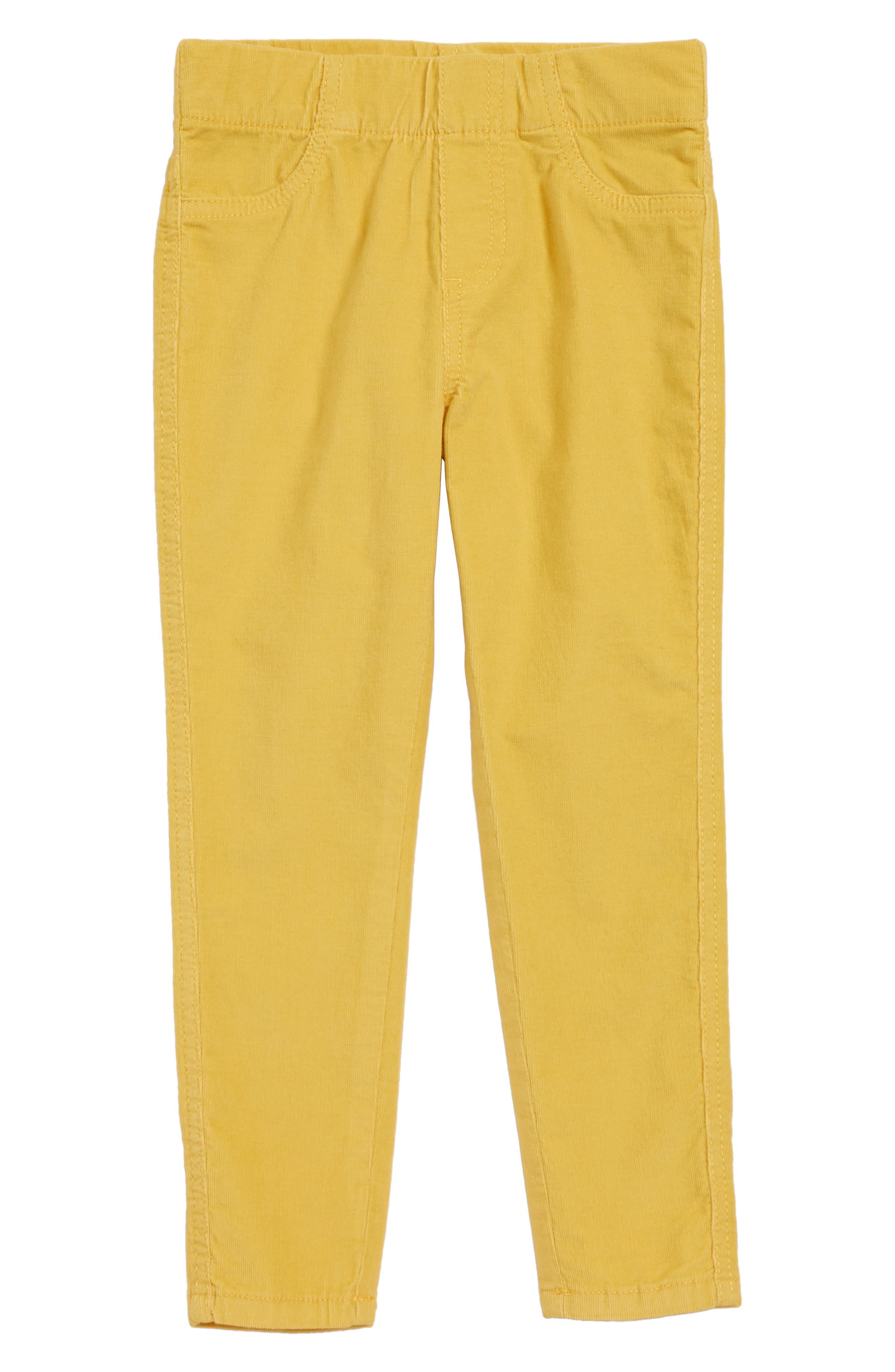 Pull-On Corduroy Pants,                         Main,                         color, YELLOW FUN
