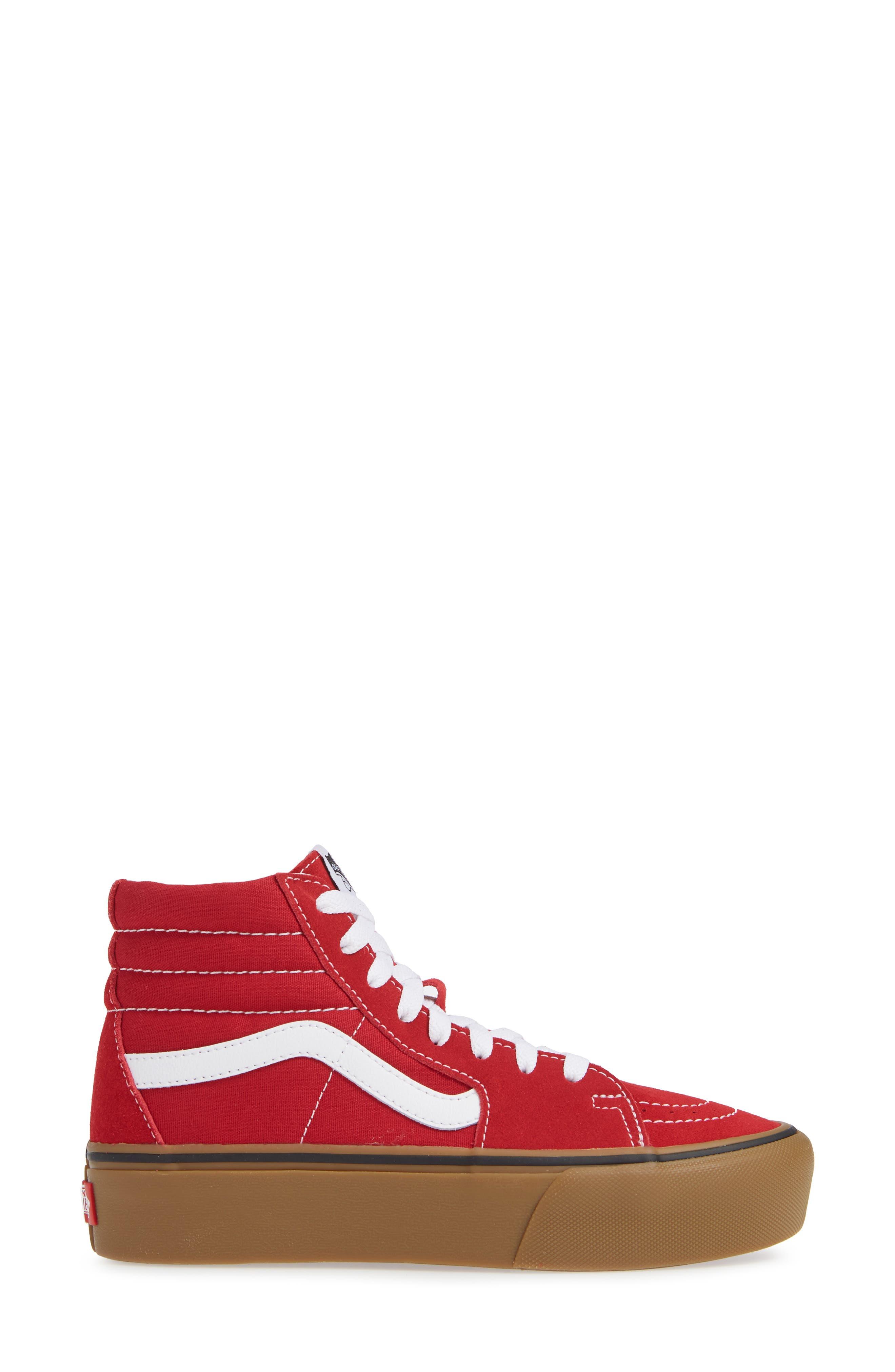 Sk8-Hi Platform Sneaker,                             Alternate thumbnail 3, color,                             SCOOTER/ TRUE WHITE