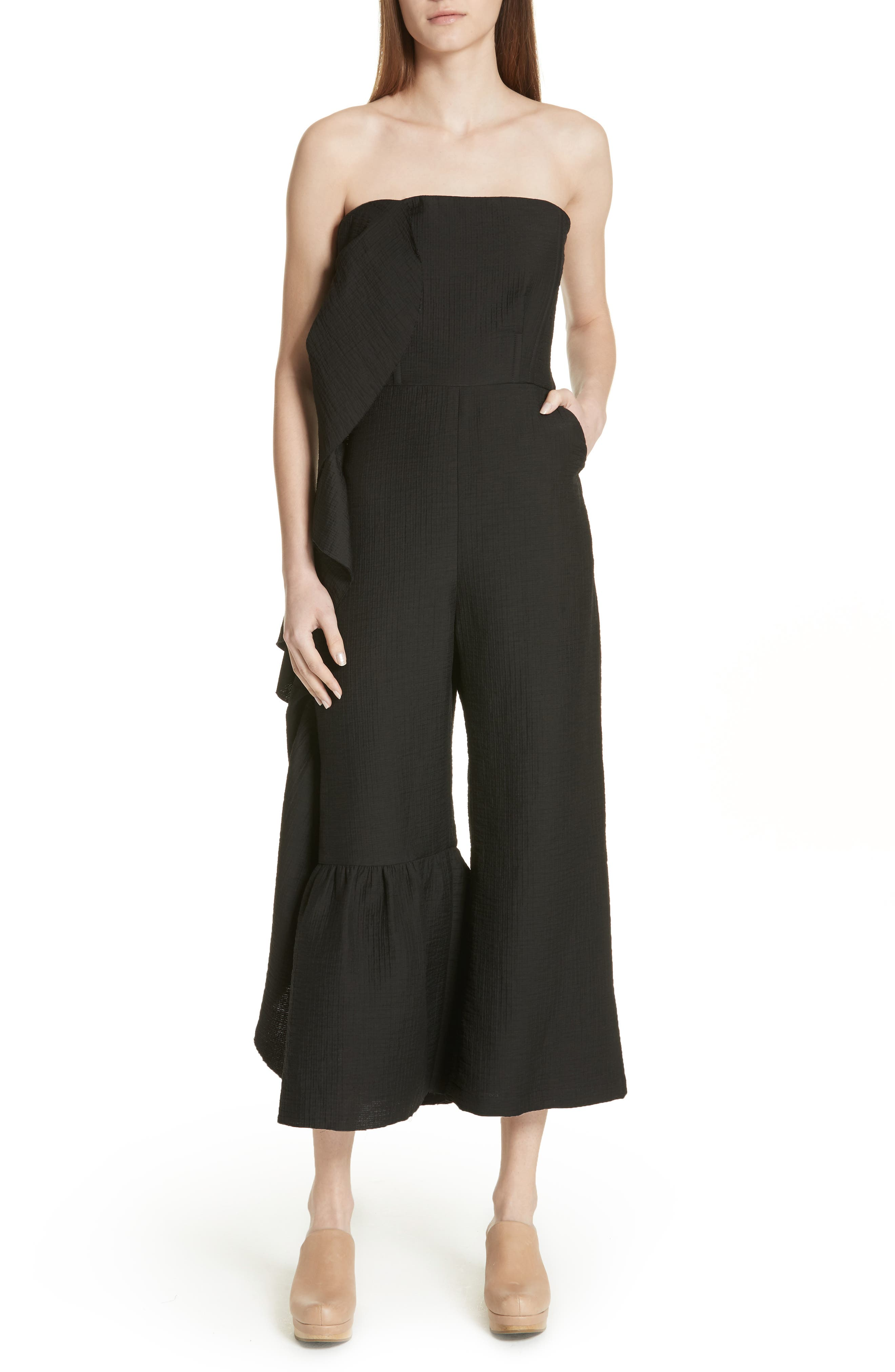 Revel Strapless Jumpsuit,                         Main,                         color, 001