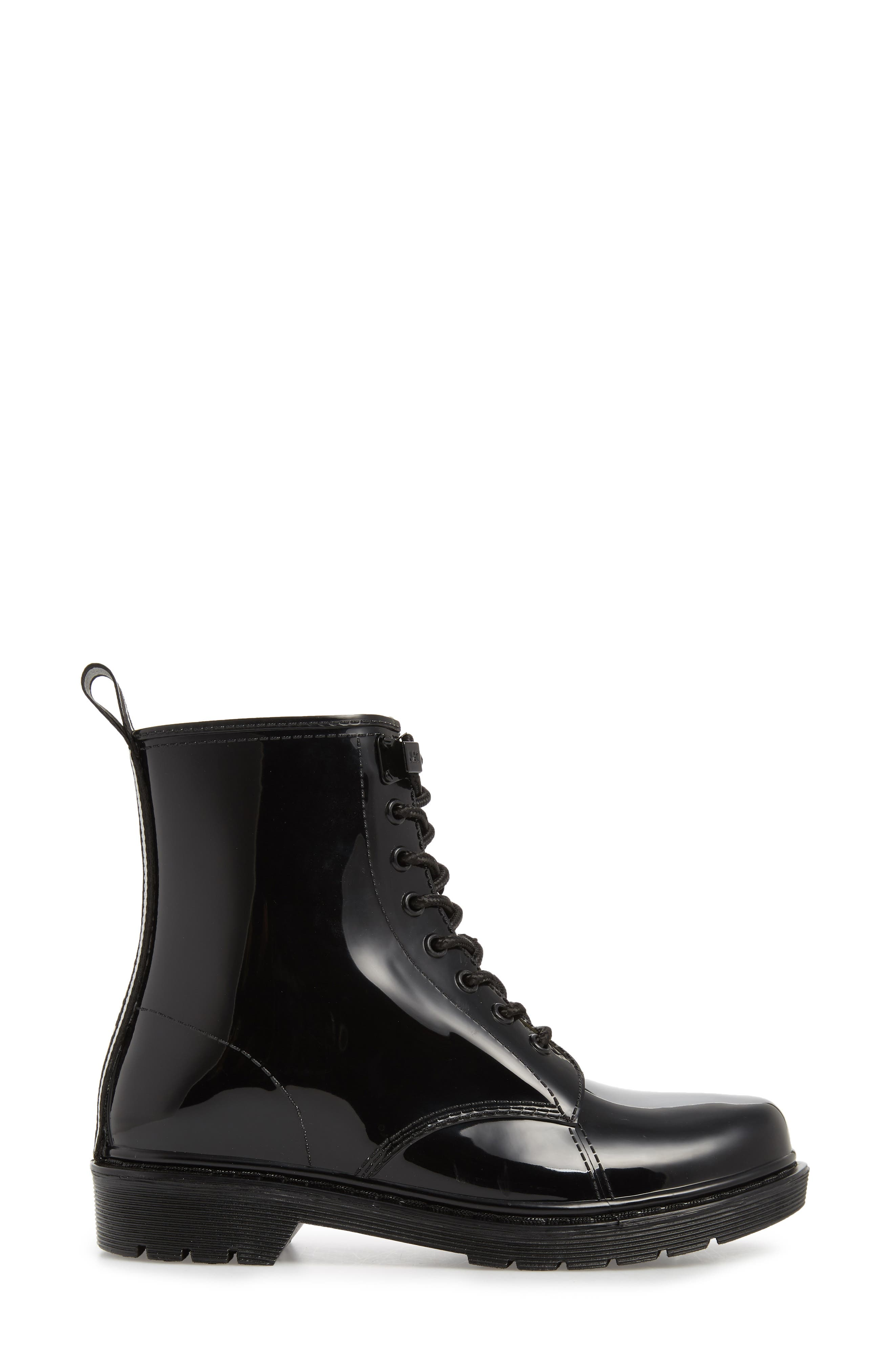 Tavie Rain Boot,                             Alternate thumbnail 3, color,                             BLACK