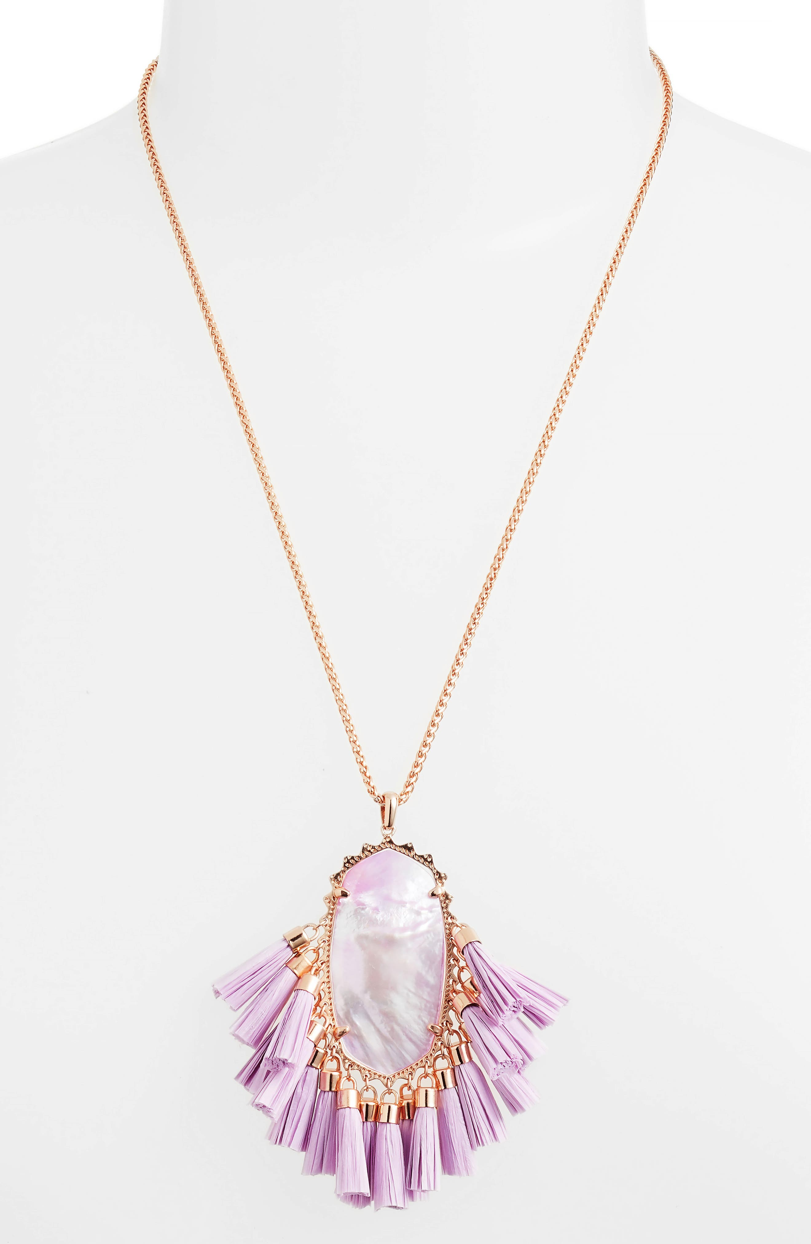 Betsy Pendant Necklace,                             Alternate thumbnail 2, color,                             LILAC MOP/ ROSE GOLD
